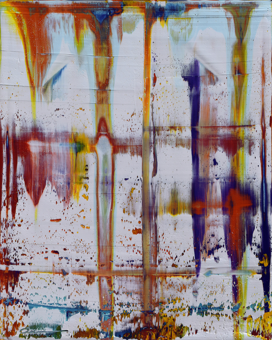 "Excavation #16   acrylic on canvas  30"" x 40""  2017"