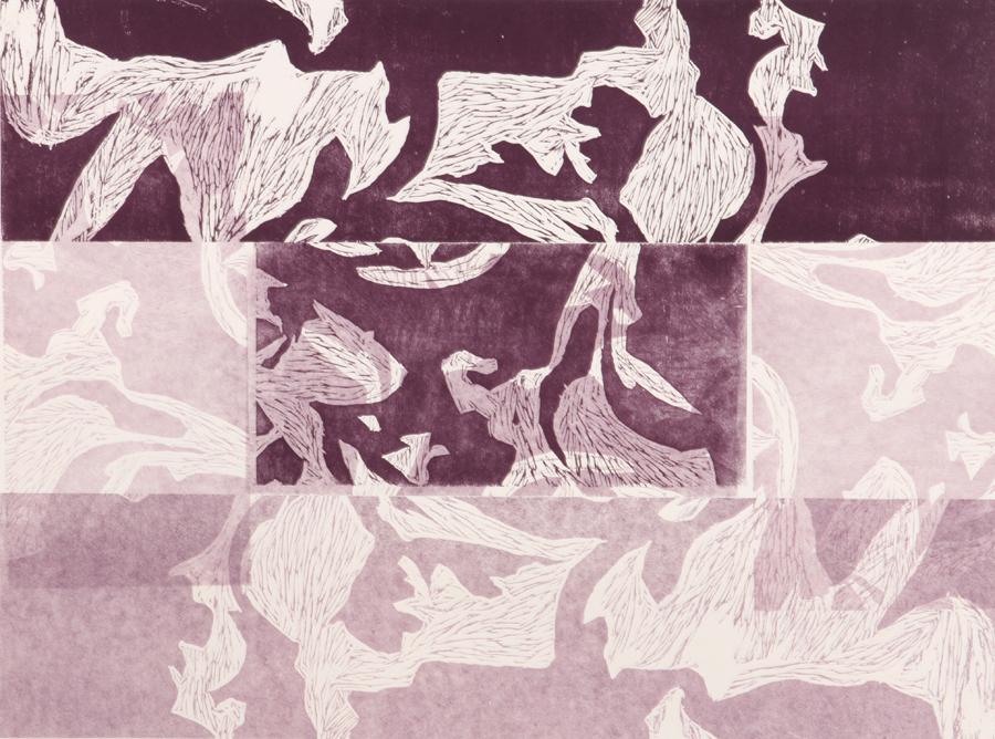 WEightless. Woodblock Print, 2013