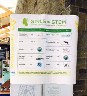 Our fellow Girls in STEM workshop hosts included GE, National Grid, and WMHT!