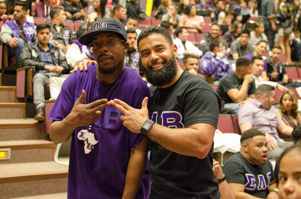 Brother Torrance Smith on the left and brother Mario Flores on the right.
