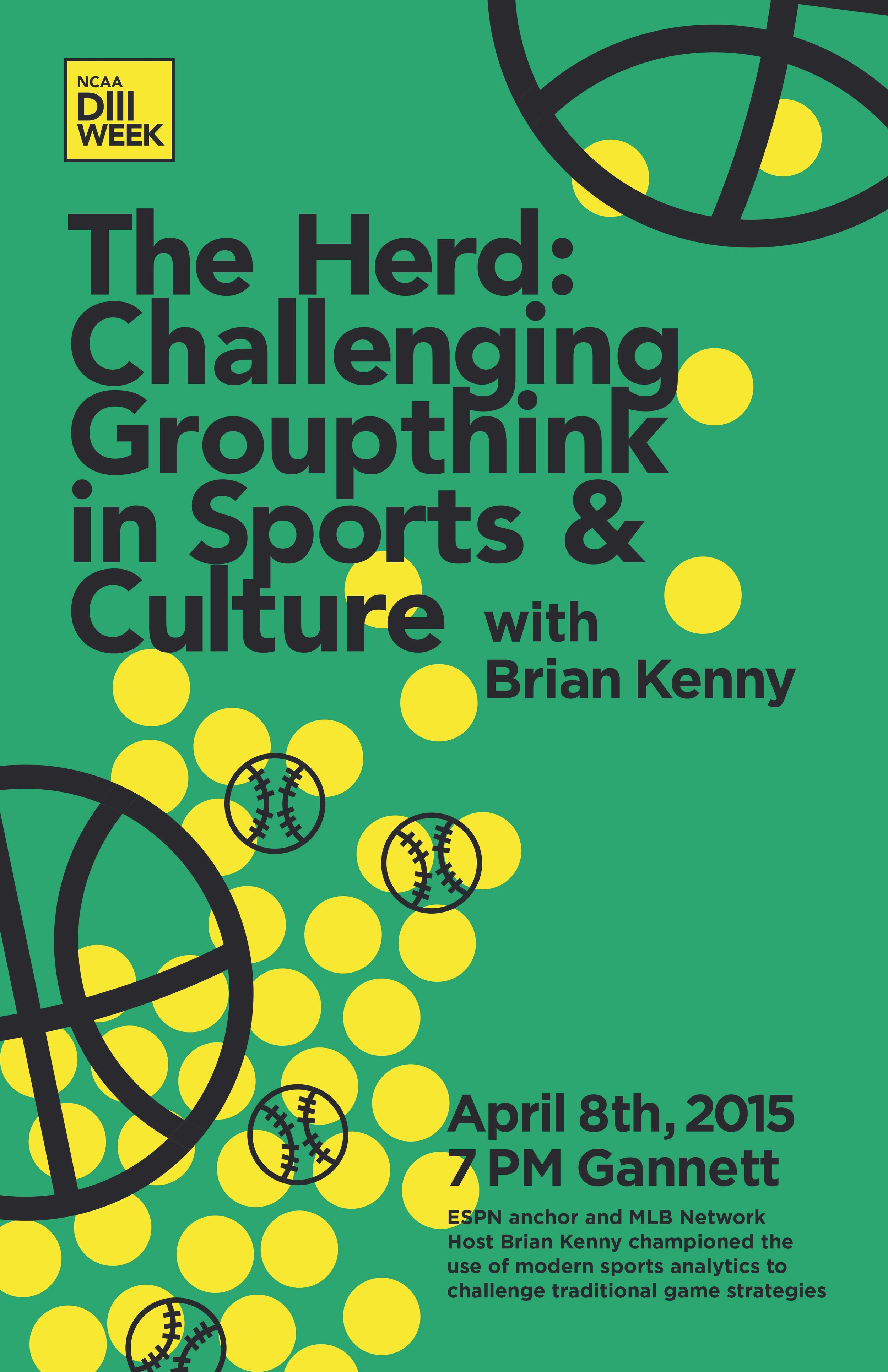 Brian Kenny lecture poster, by Aria Goodman '15