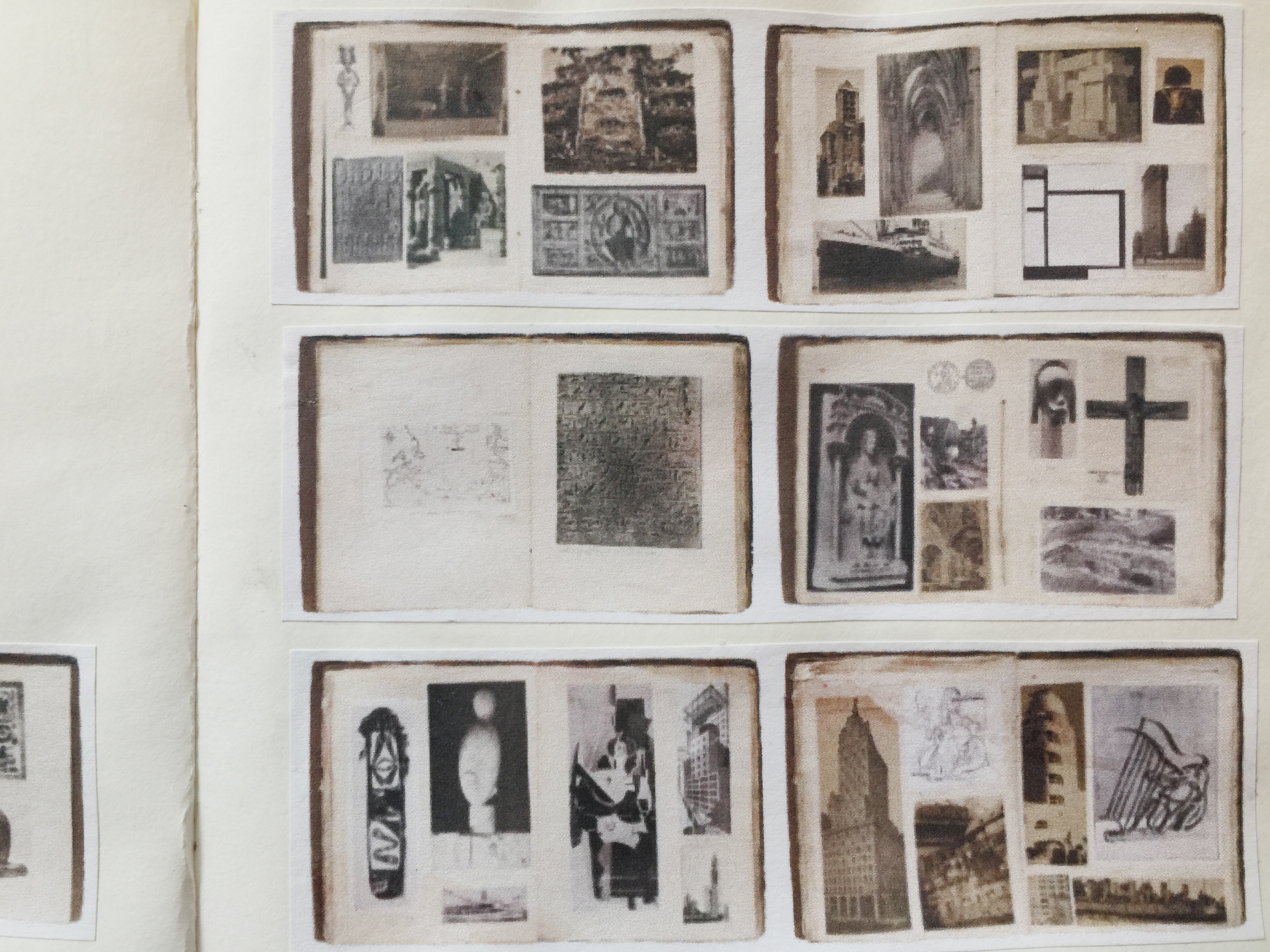 Images of Joaquín Torres-Garcia's notebooks pasted into my own journal.