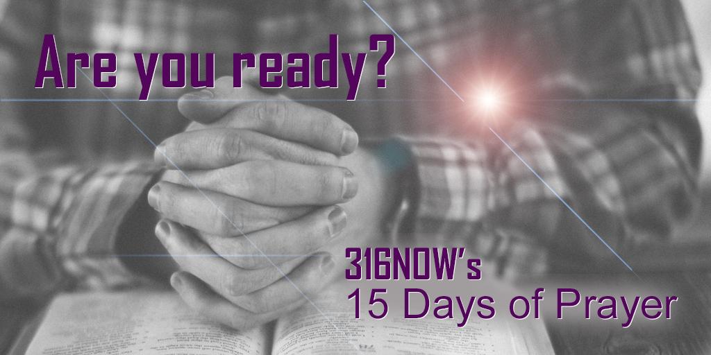 316NOW's 15 Days of Prayer begins on January 28. Download the prayer guide at http://bit.ly/2hmdtjv