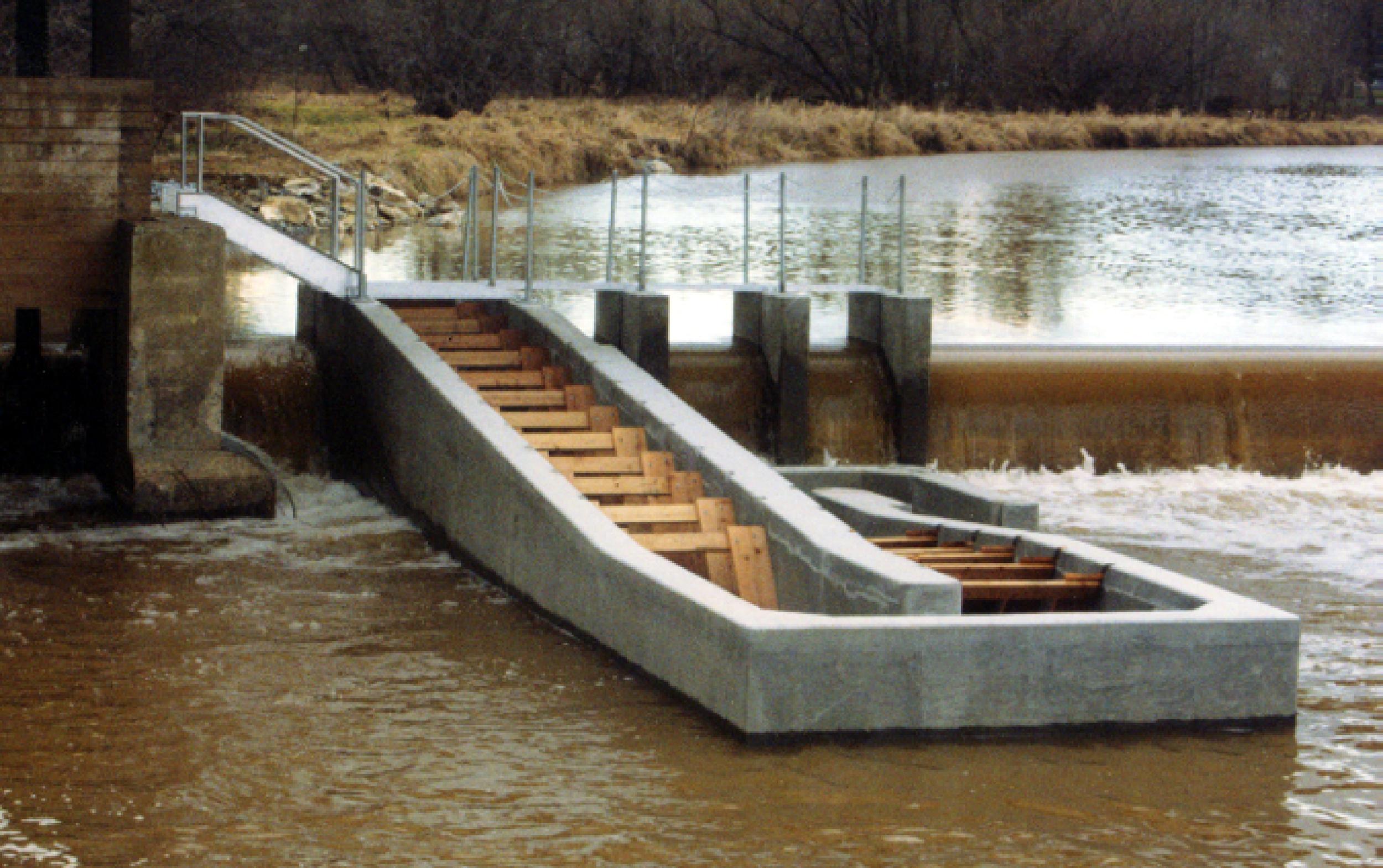 FIsh Pass at Conestoga water treatment plant dam