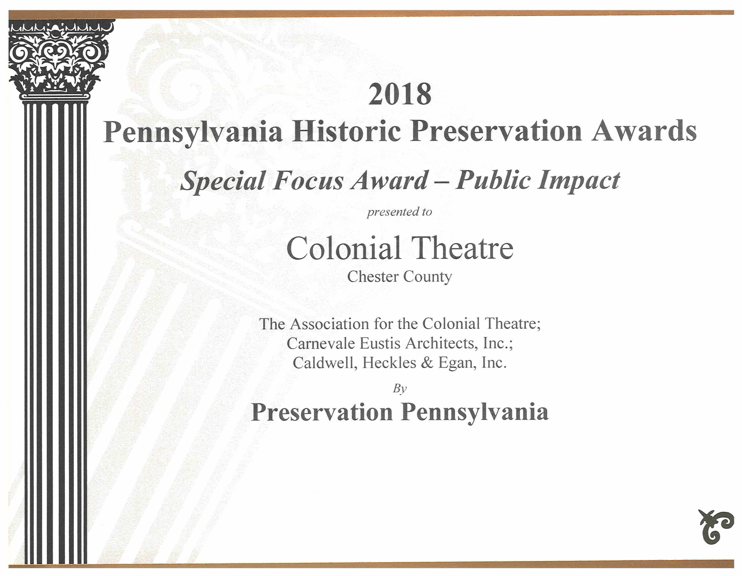 2018 Historic Preservation Award - Colonial Theater.jpg