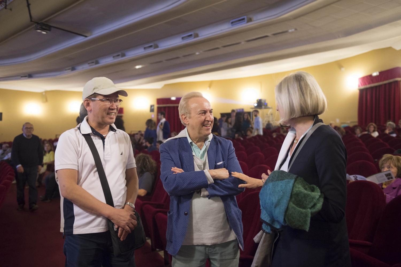 Il direttore del  FIFA  René Rozon e la regista Evelyn Schels