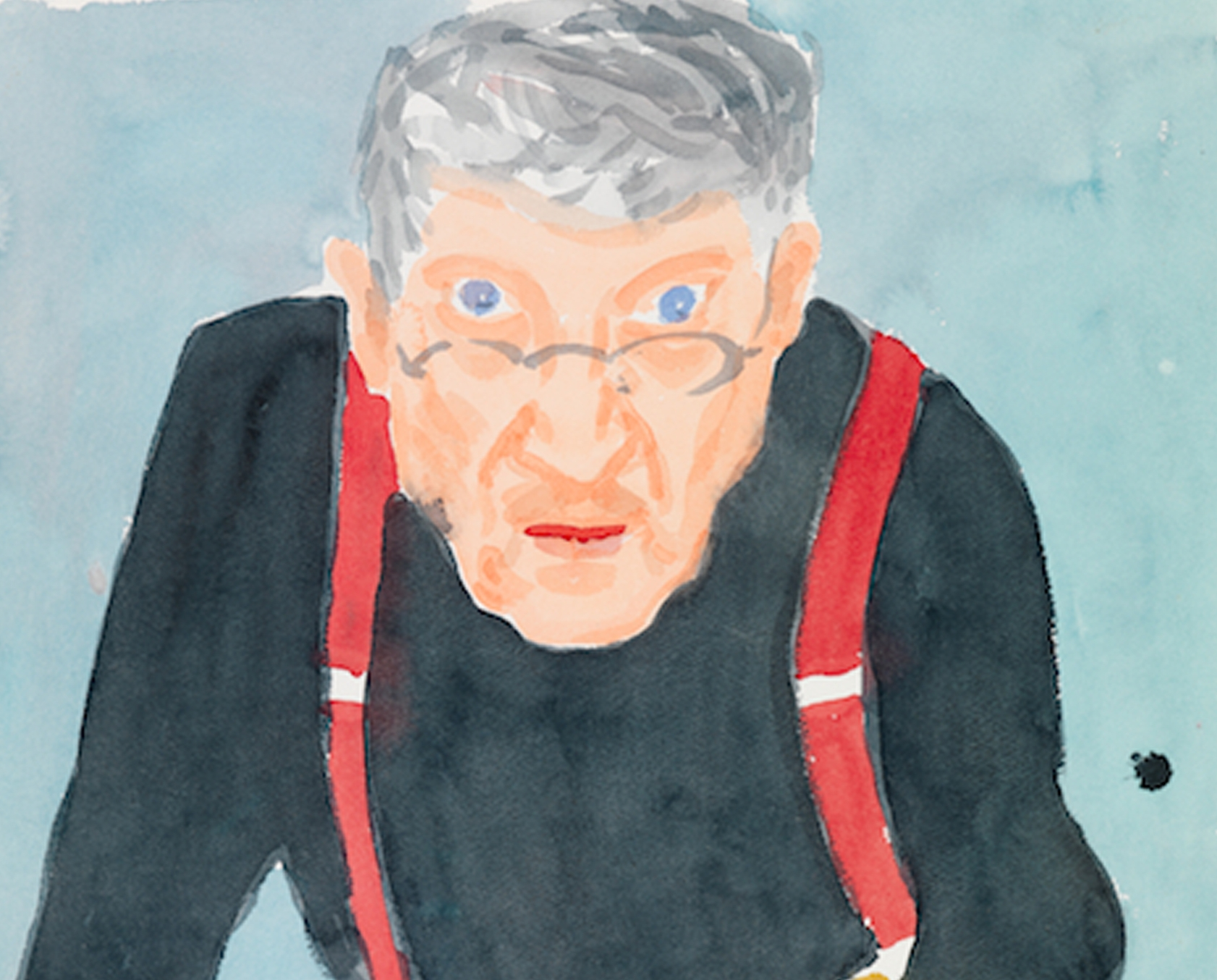 1. Self Portrait with Red Braces 2003 Watercolour on paper 24 x 18 18 .jpg