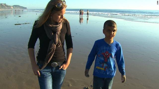 Youssif and me in California. Photo by CNN.