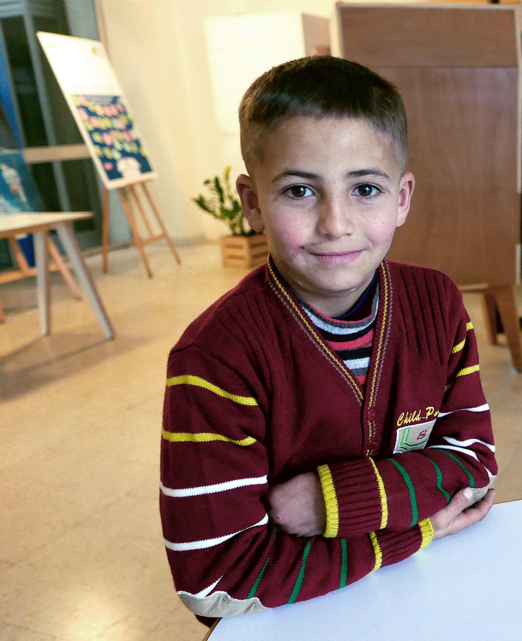Khaled INARA Arwa Damon CNN Syrian refugee child needing medical treatment