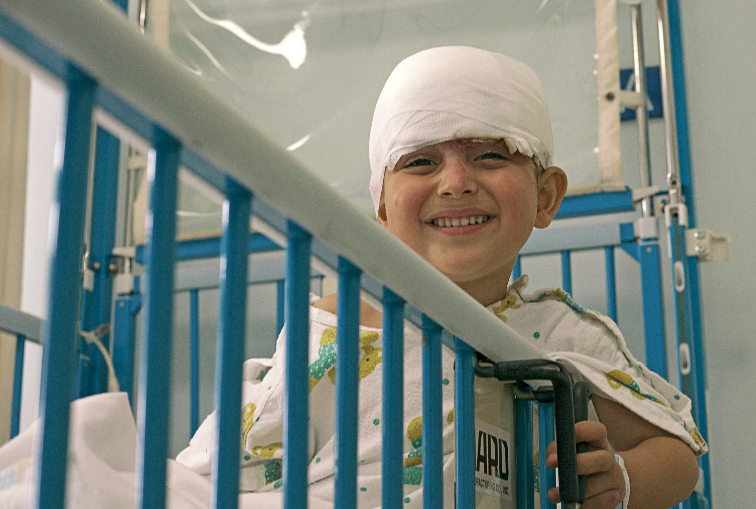 Khalil prior to his surgery at AUBMC.
