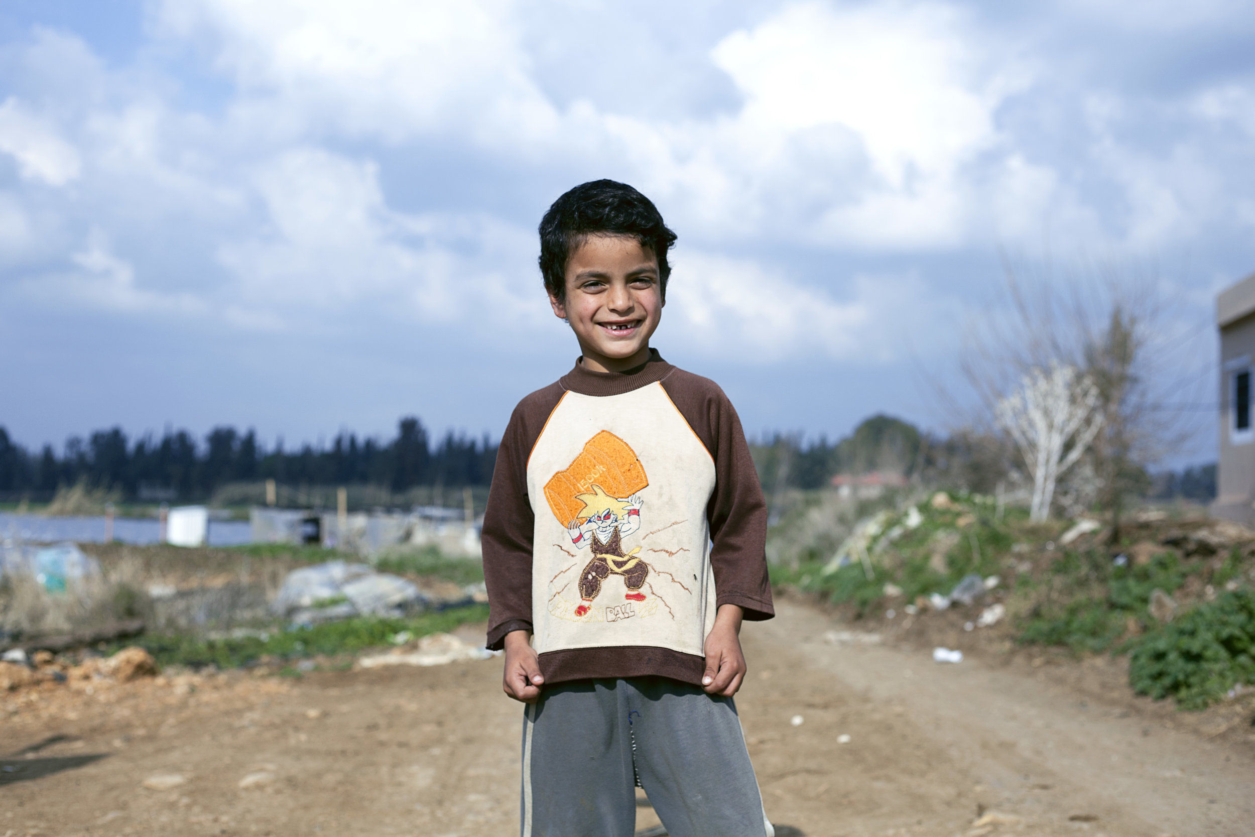 Amjad refugee from Syria in refugee camp in Lebanon