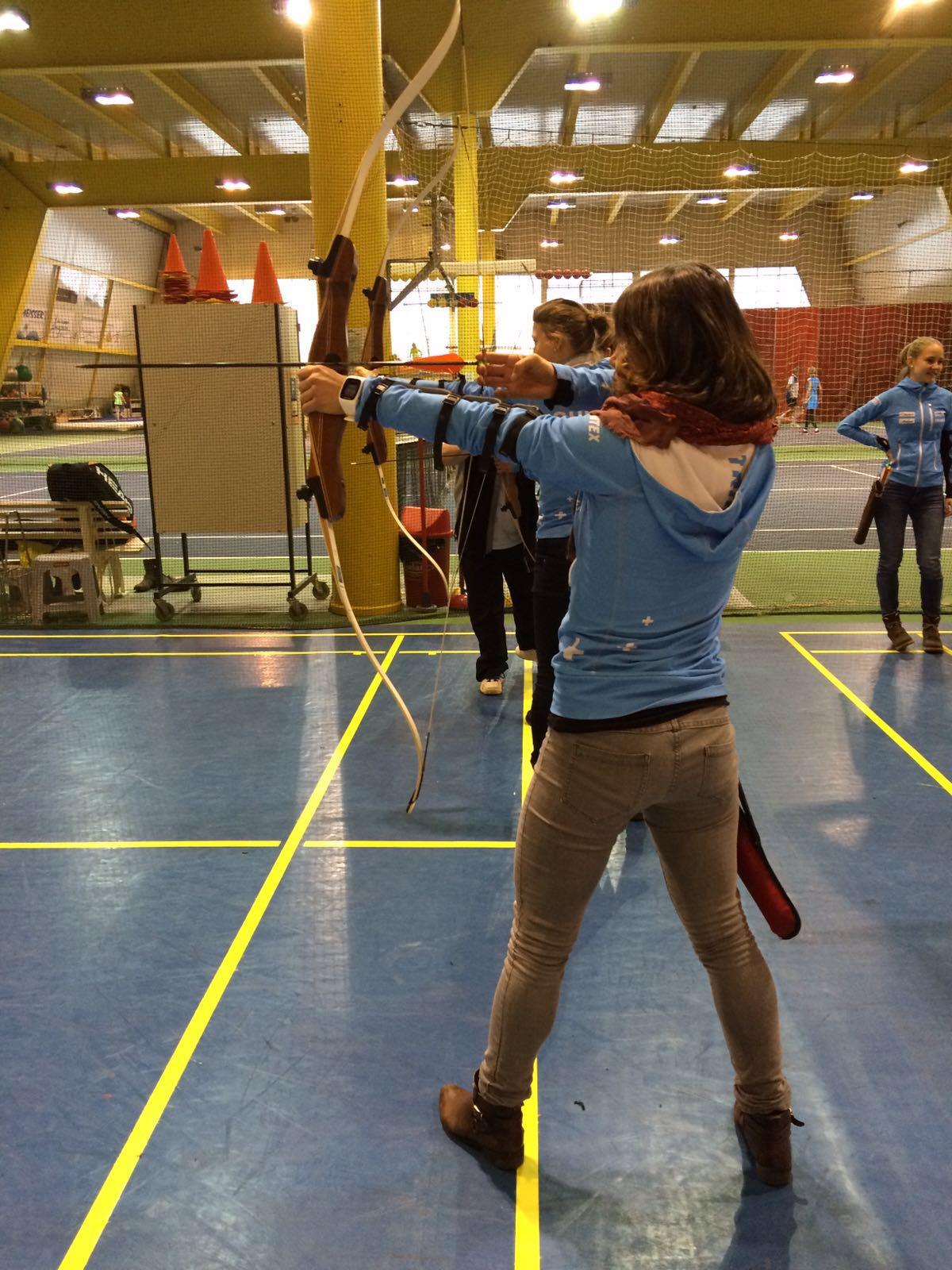In azione a tiro con l 'arco