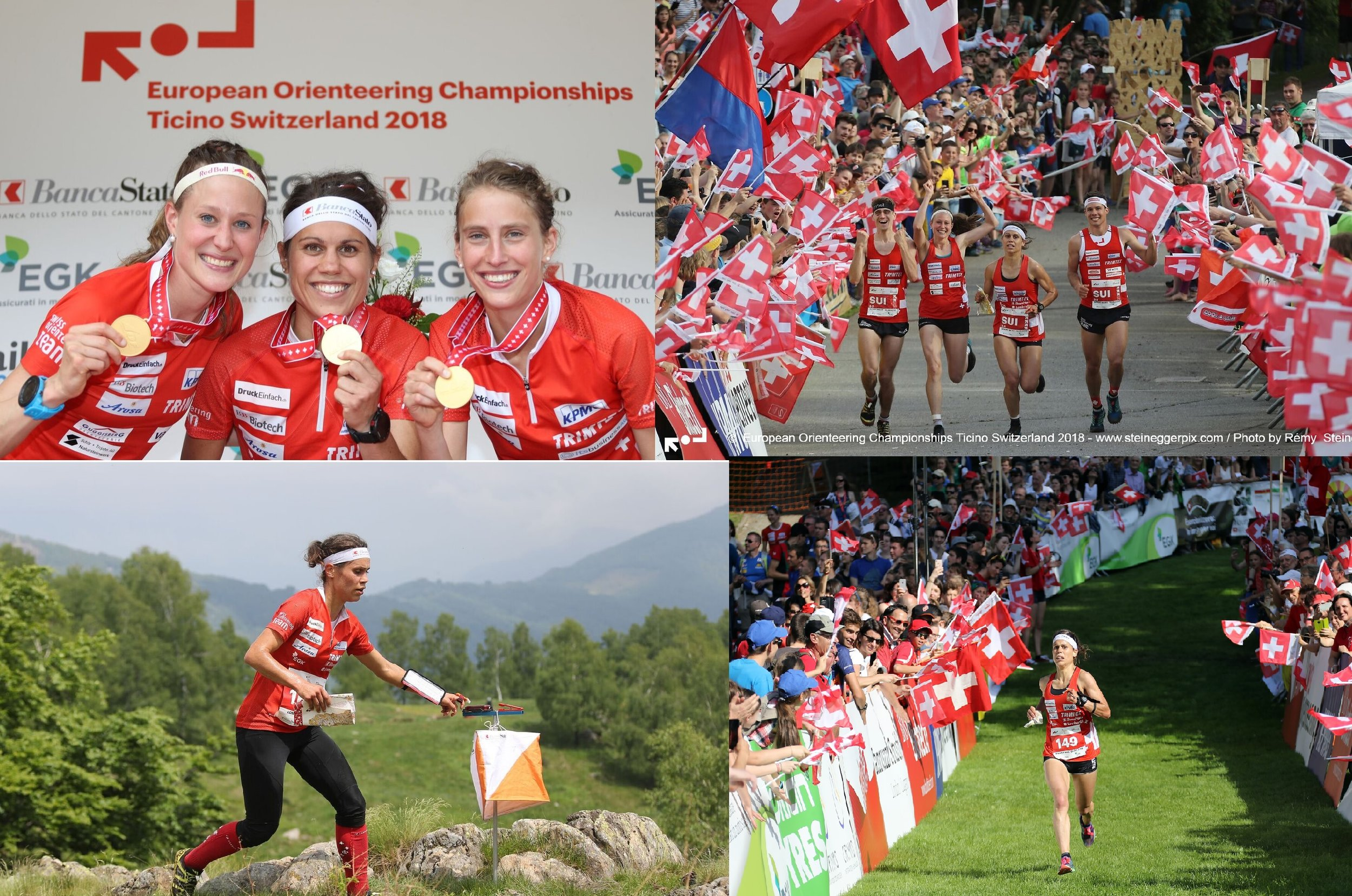 Europei assoluti di CO in Ticino:  1. Staffetta-sprint; 1. Staffetta; 6. Sprint; 10. Long
