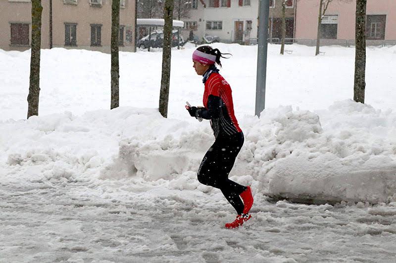 in azione durante la staffetta sprint. Foto: OLG Pfäffikon