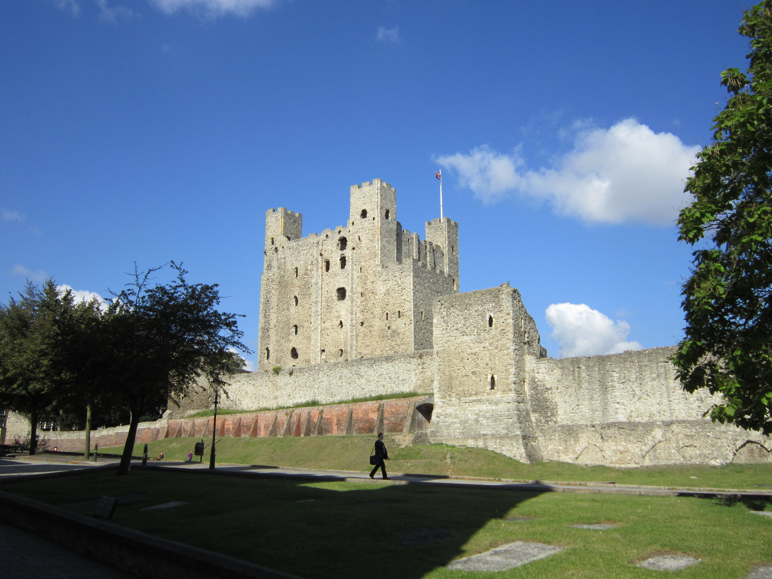 Rochester Castle, one of Rochester's most popular attractions.
