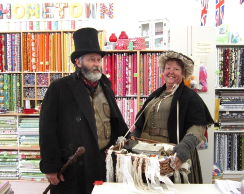 Dickens Festival characters at Hometown