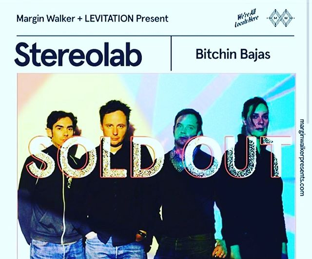 TONIGHT @marginwalkertx presents @stereolabgroop . Doors at 8pm. This show is completely SOLD OUT.