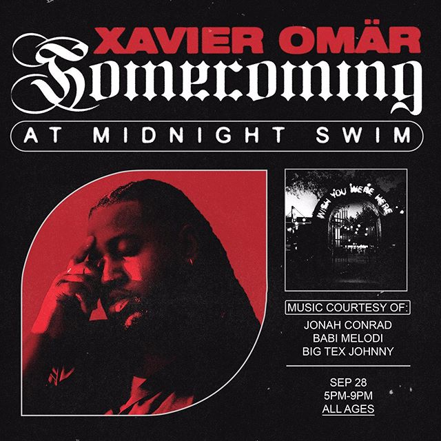hey guys just a quick reminder that @xvromar is having a FREE party across the street at @midnightswim210 from 5 to 9 - dj sets by @bigtexjohnny | @jonah.conrad | @babimelodi... rumor has it that he might play some new songs off his unreleased project... all ages