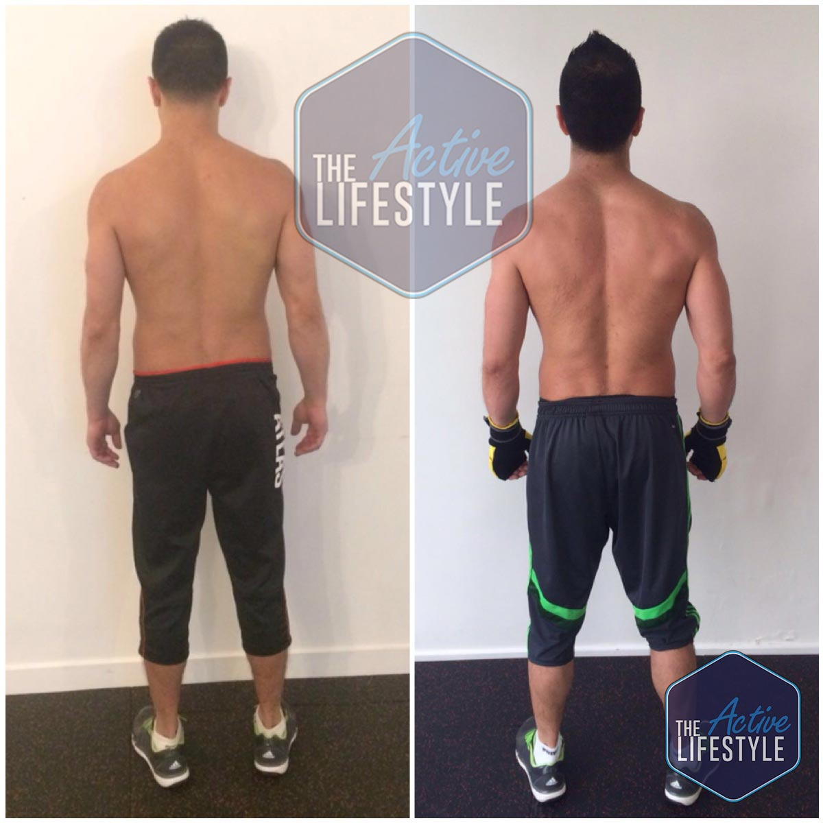 Paul is a full time chef, business owner and sports enthusiast. His frequent football and boxing meant that he had always found it difficult to build any muscle and improve his physique. Being a personal friend we are overjoyed with his transformation - he has achieved the holy grail of training - he built muscle and strength and actually lowered his body fat percentage and got his abs to show as you can see here! Congratulations mate, thank you for trusting us with your body!