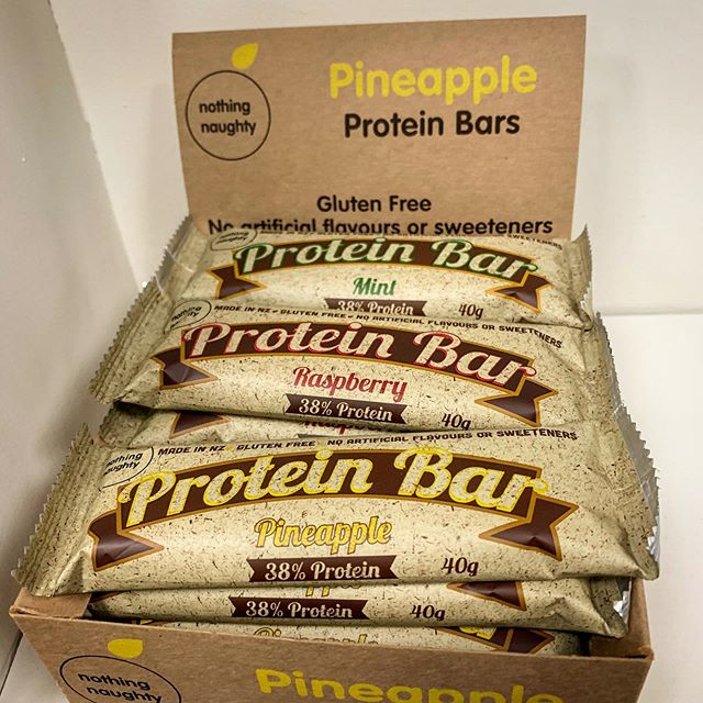 Protein protein protein bars are back in stock!!! These awesome protein bars from Nothing Naughty are a great source of protein and the perfect snack. Made from high-quality ingredients, and no filler, these provide you with 15.2 g of protein per bar!  The perfect choice for somebody on the go!  #nothingnaughty #protein #proteinbar #supplements #food #nutrition #healthy #health #personaltraining #personaltrainer #auckland #protein #food #onthego #privatestudio #mteden #kingsland #morningside