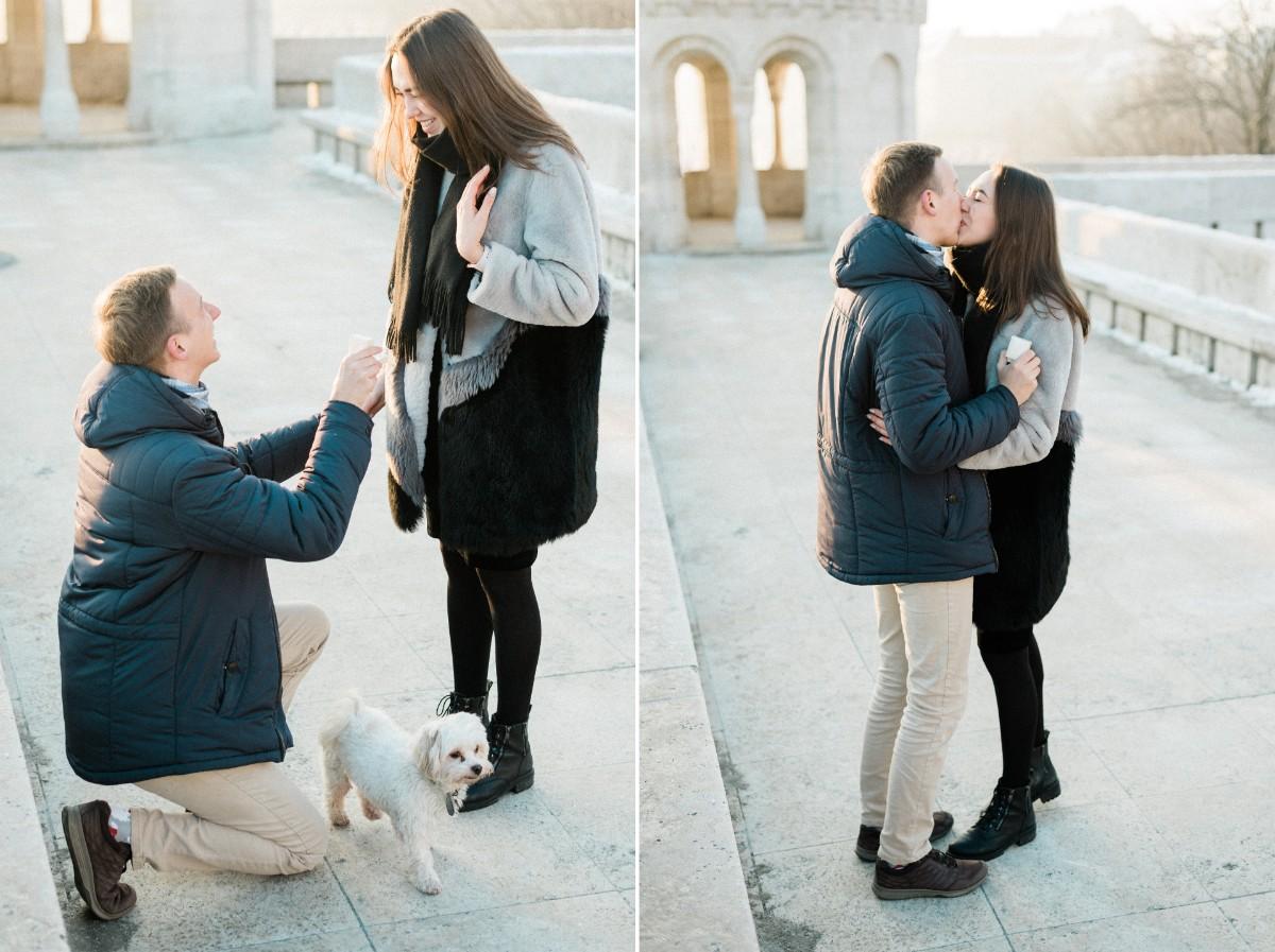 surprise proposal in budapest castle europe photographer wedding.jpg