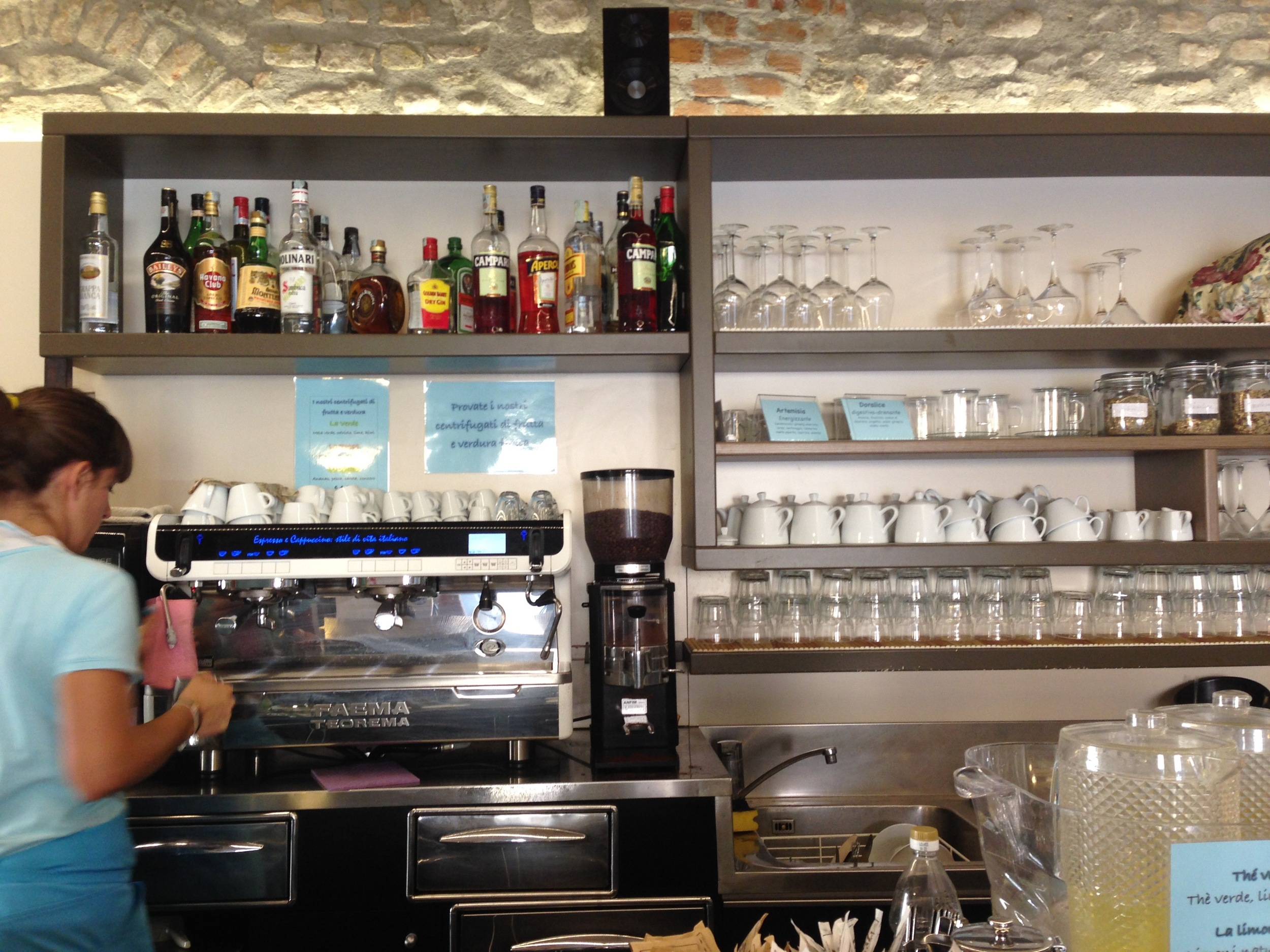 And all the caffe bars double as real bars fully stocked will all your afternoon apertif needs.