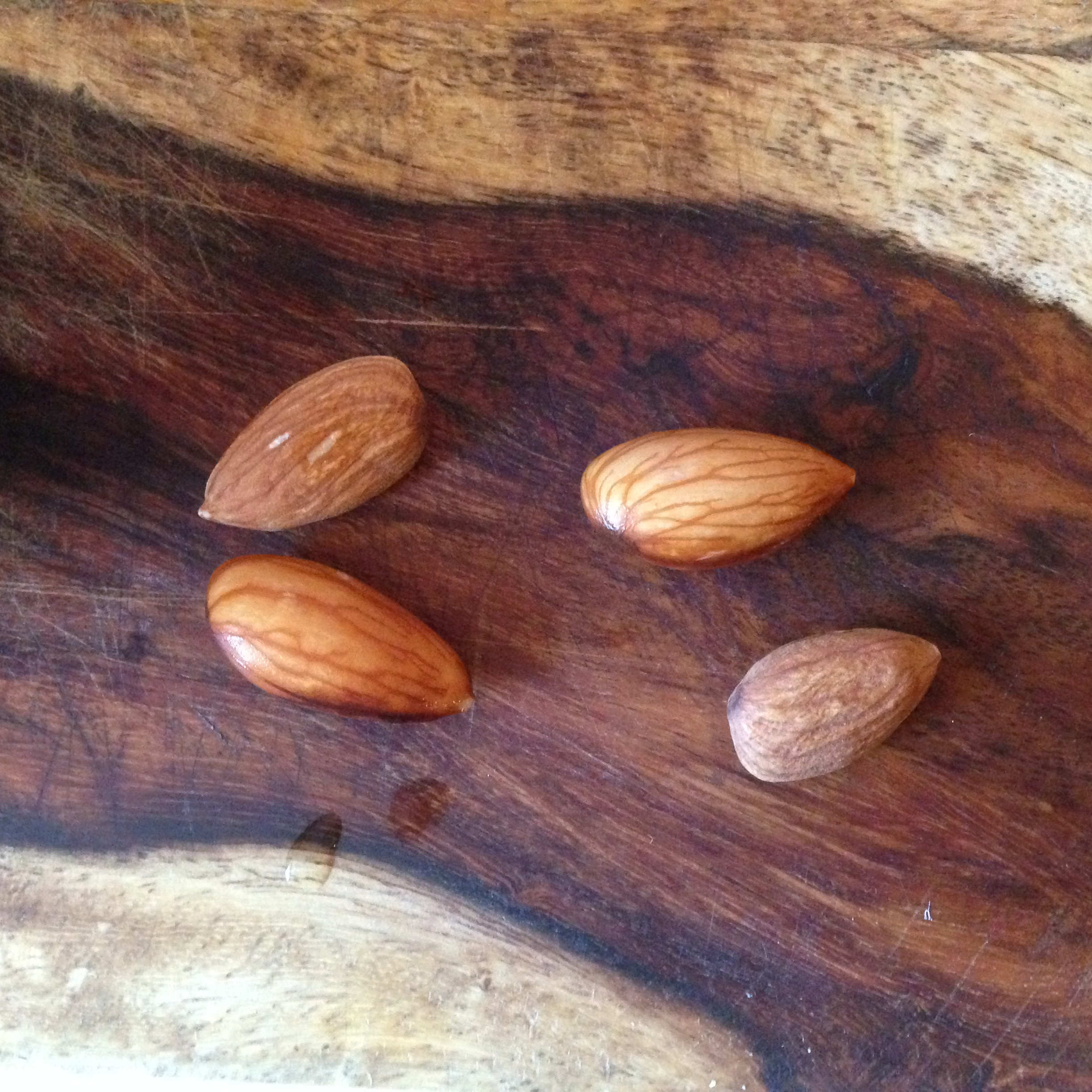 The almonds will swell in size after soaking.