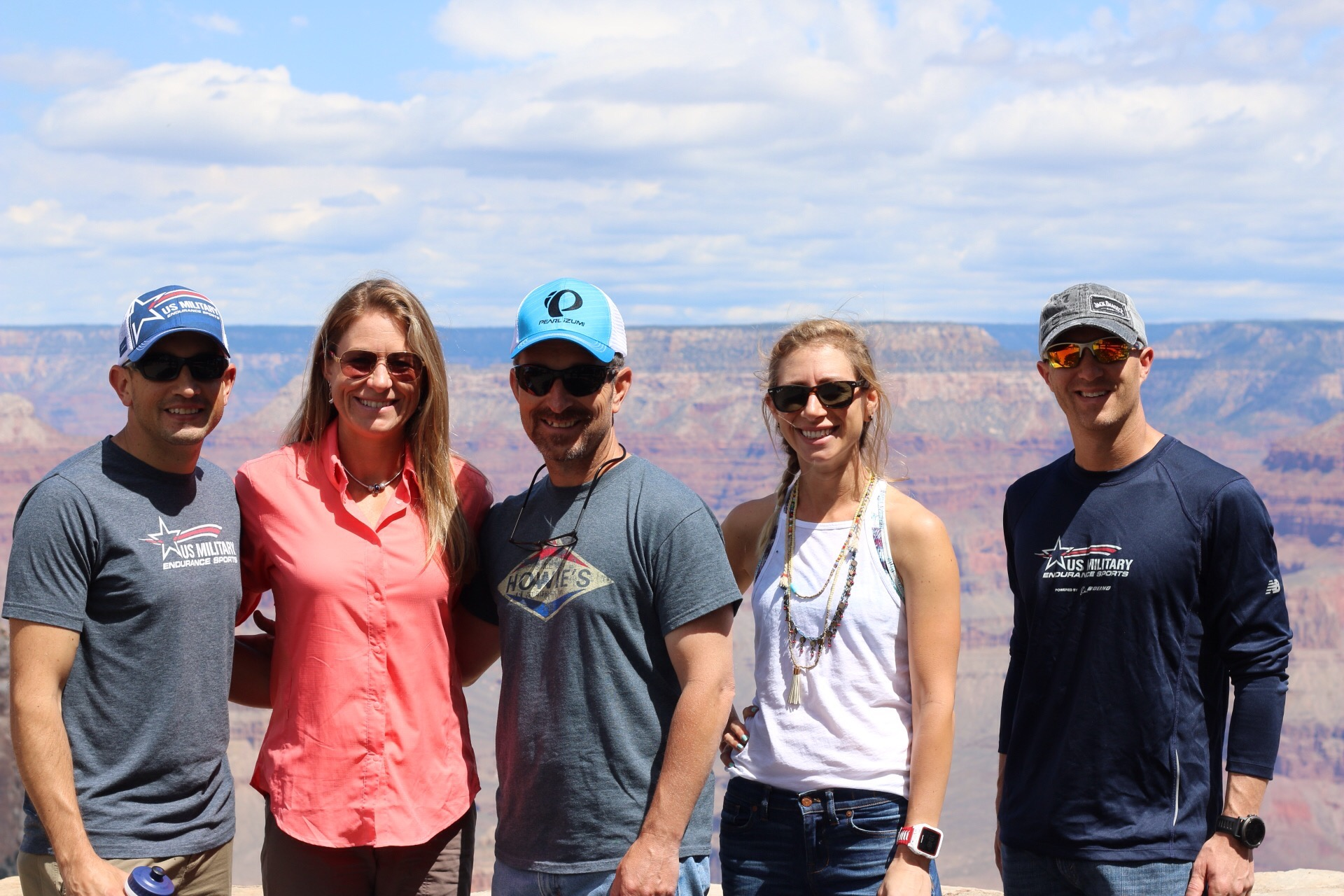 The group scopes out South Rim