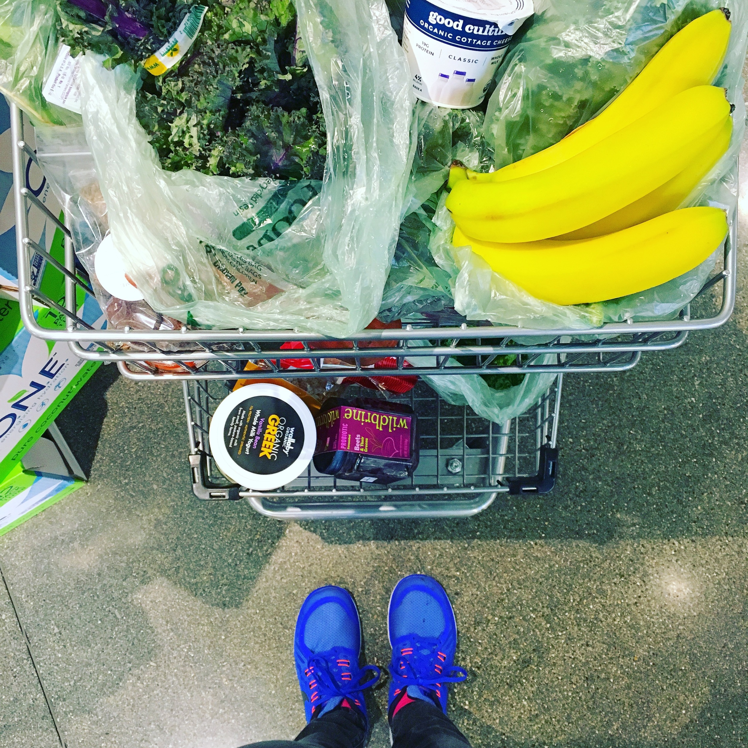 Filling the cart with all good things!