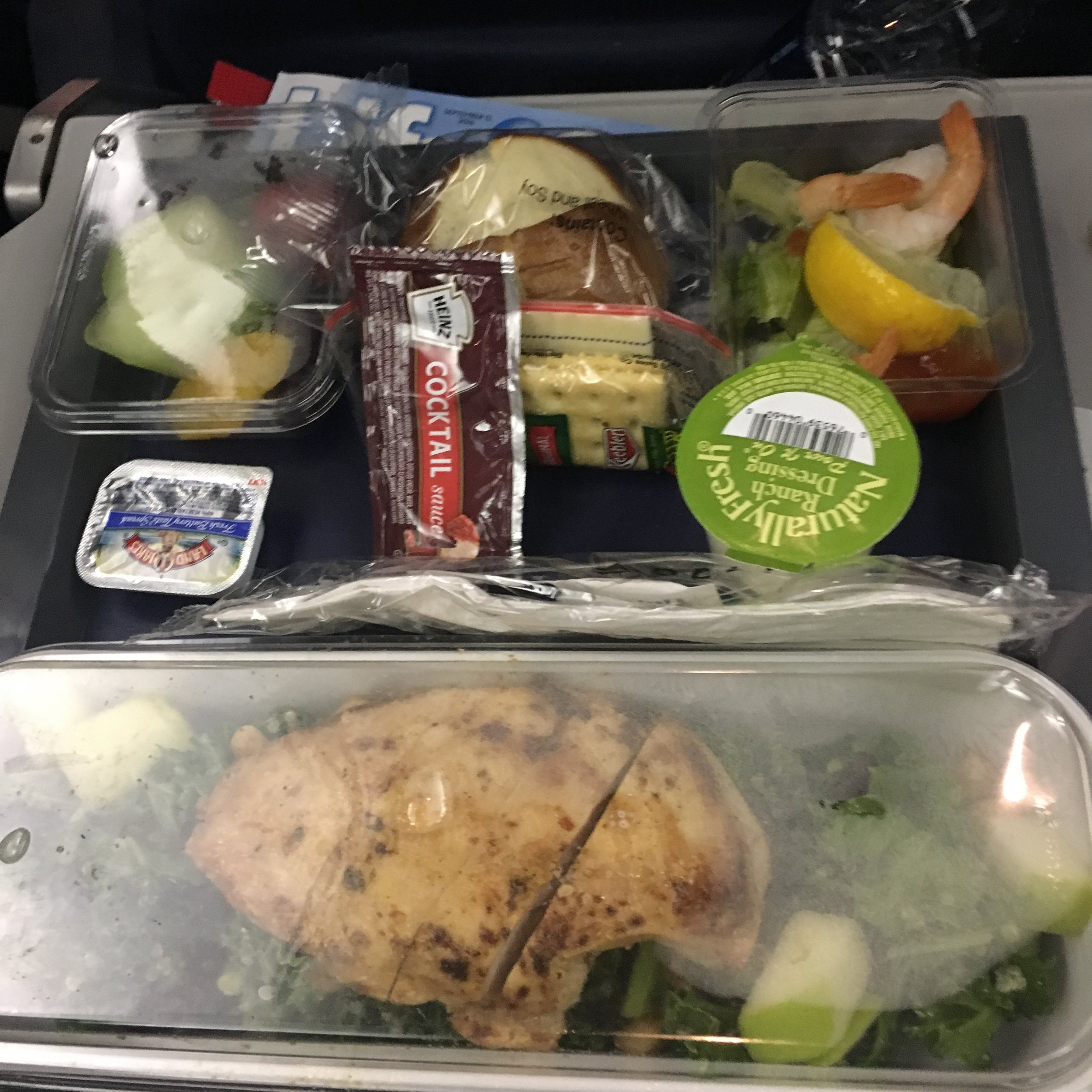 airplane meals aren't so bad...