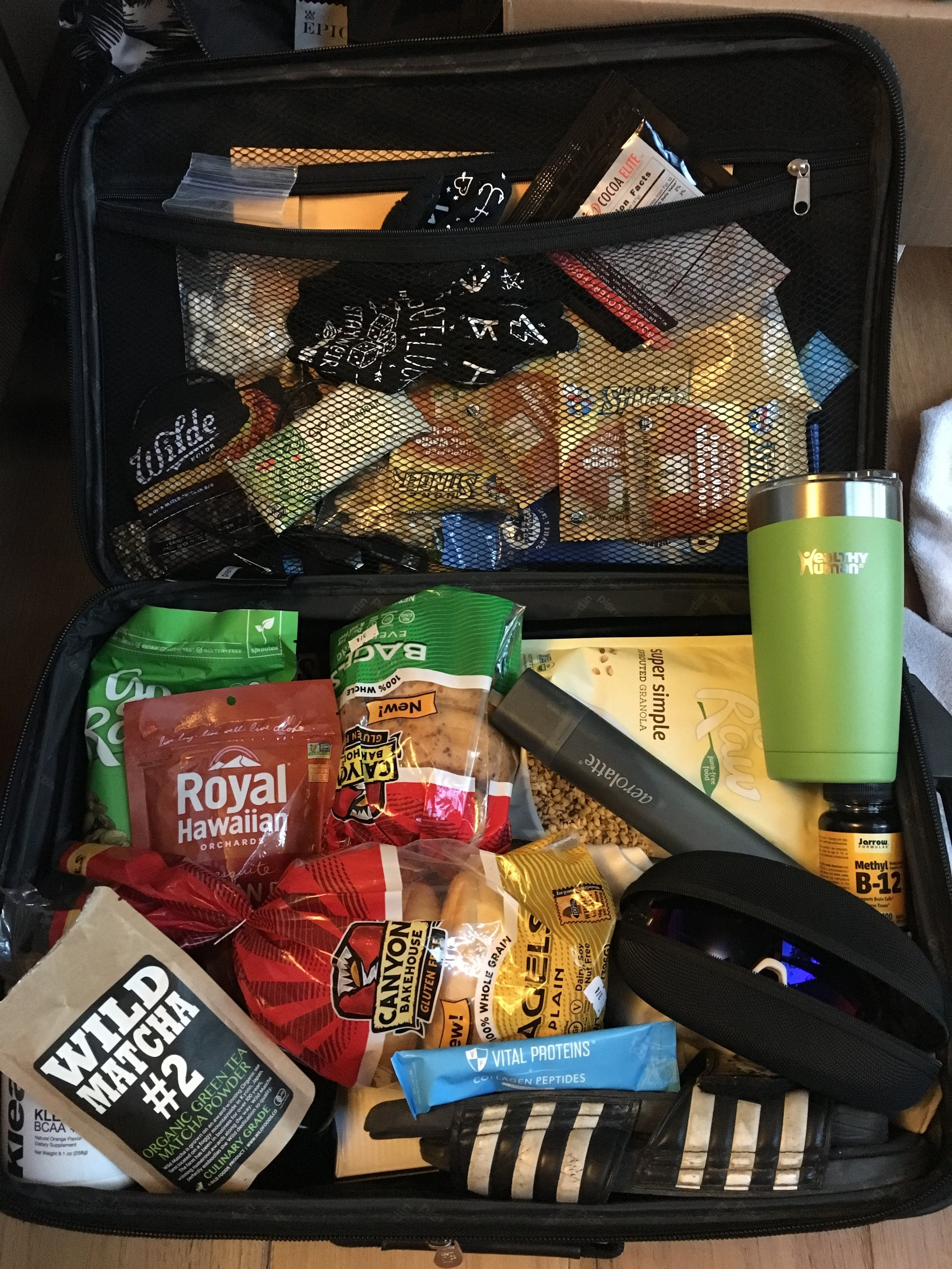 Yes, I packed a suitcase of my own food...