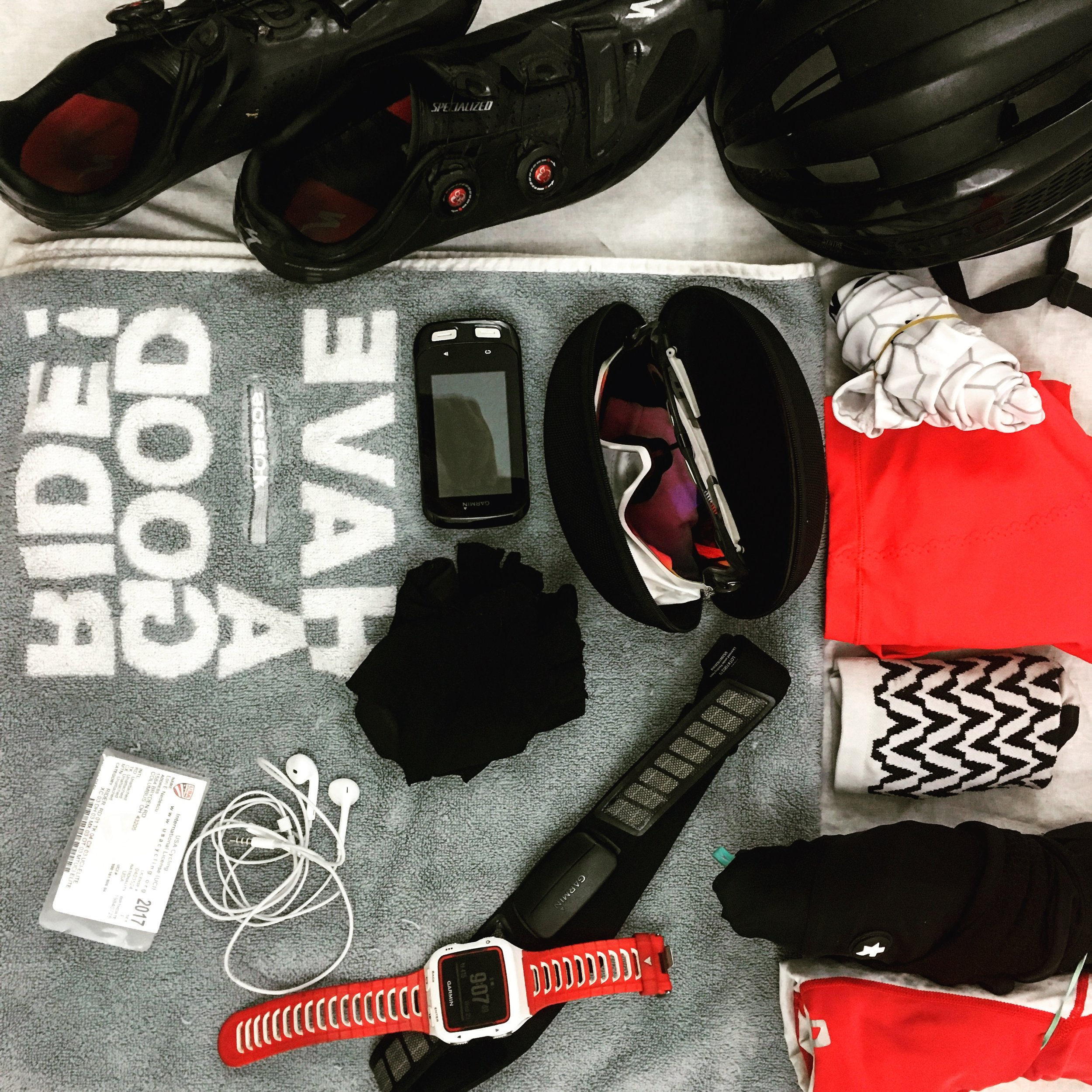 Go into race day with a clean, focused race bag!