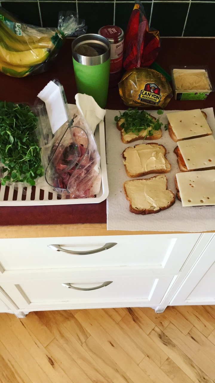 took time to prep extra sandwiches for when I was back on the road