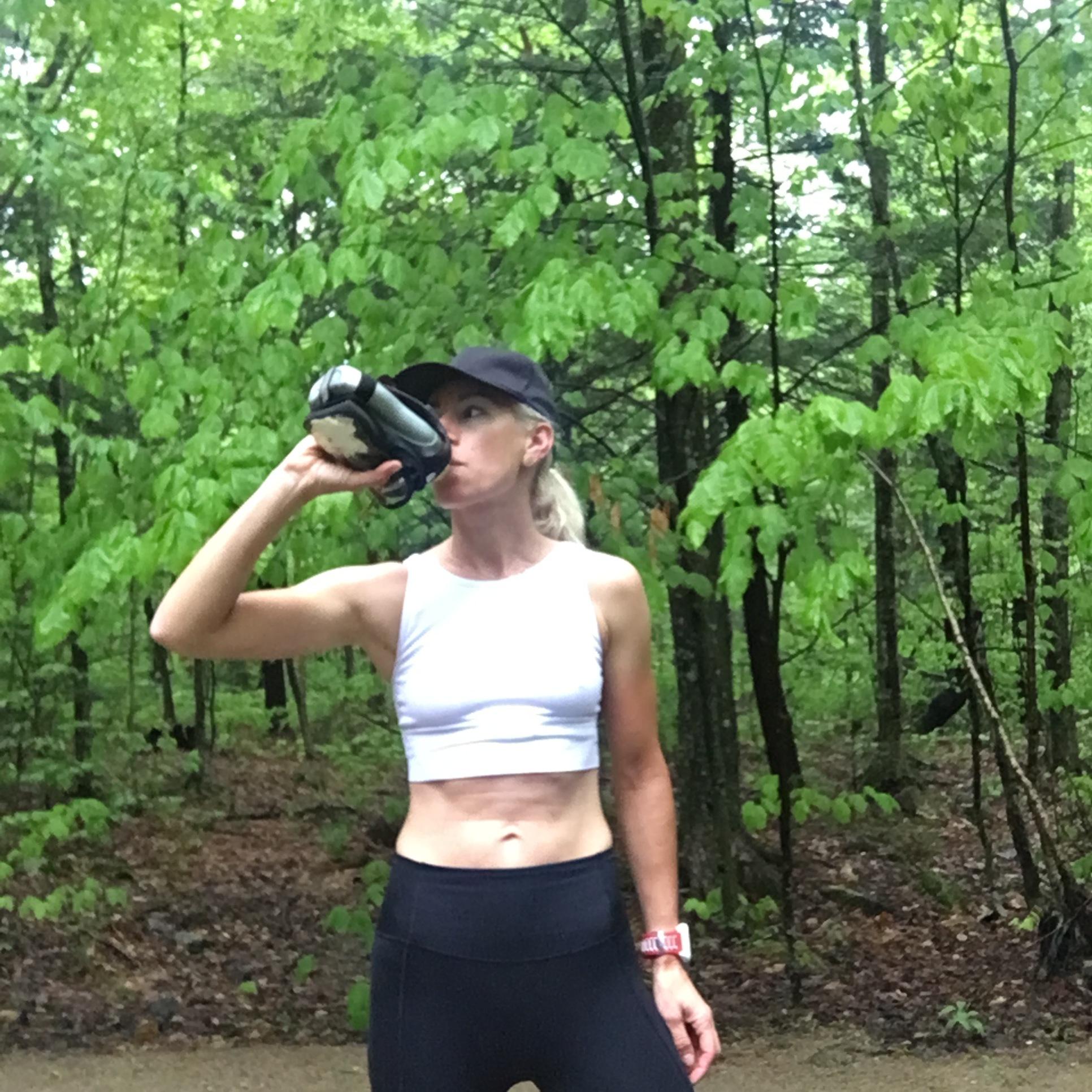 Muddy trail run for a little cross training