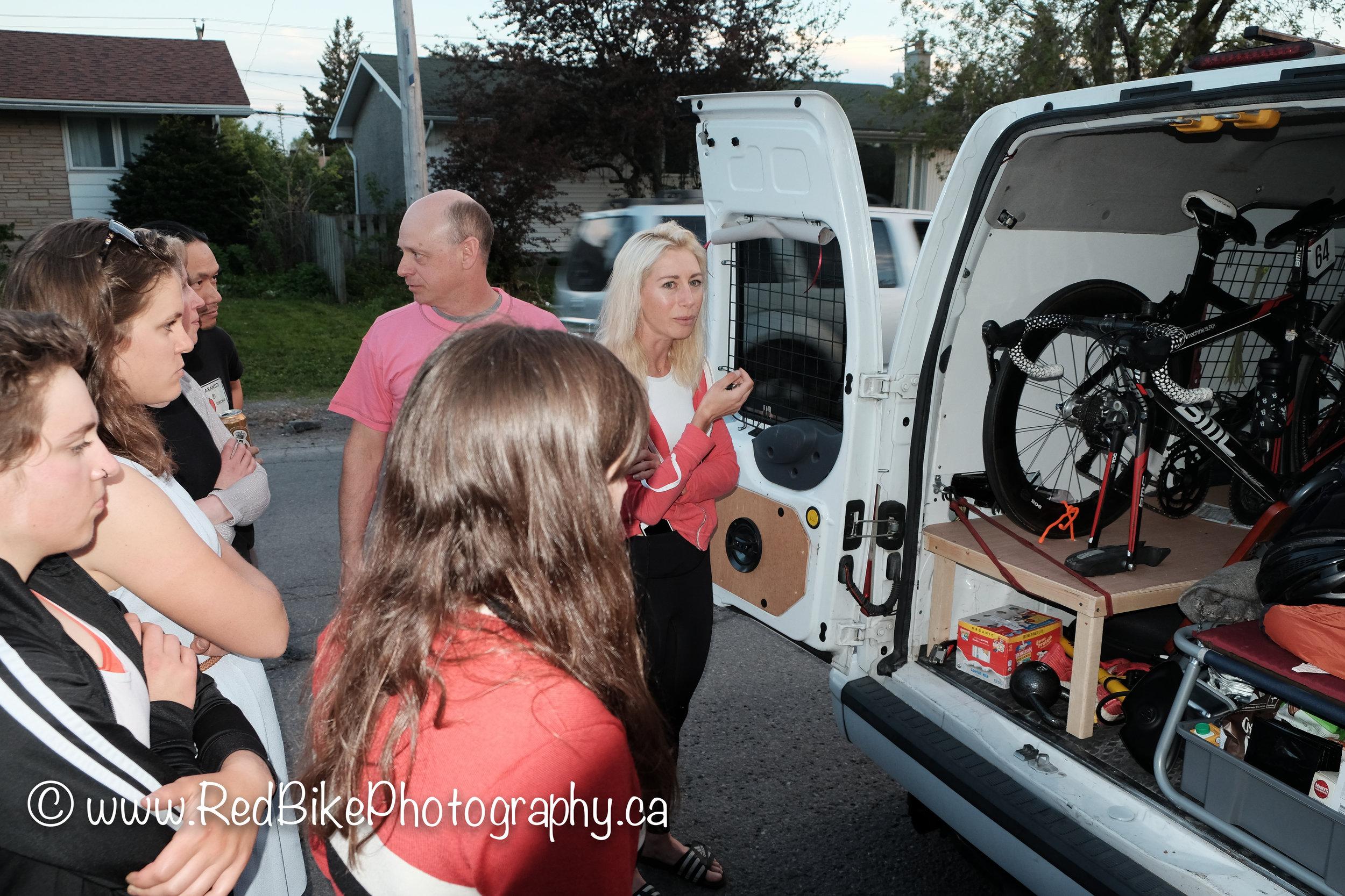 Giving a van tour