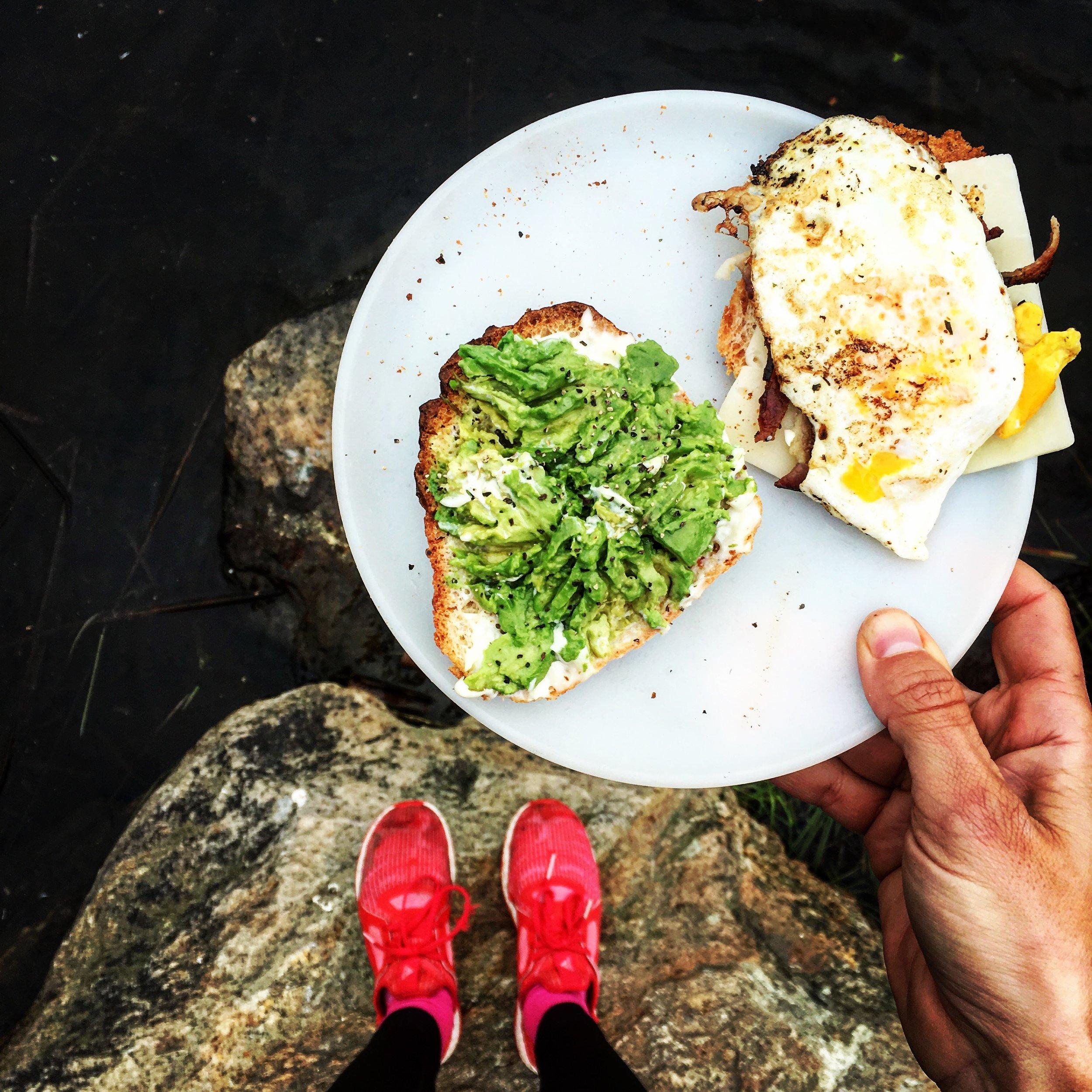 Avocado toast is camp friendly!