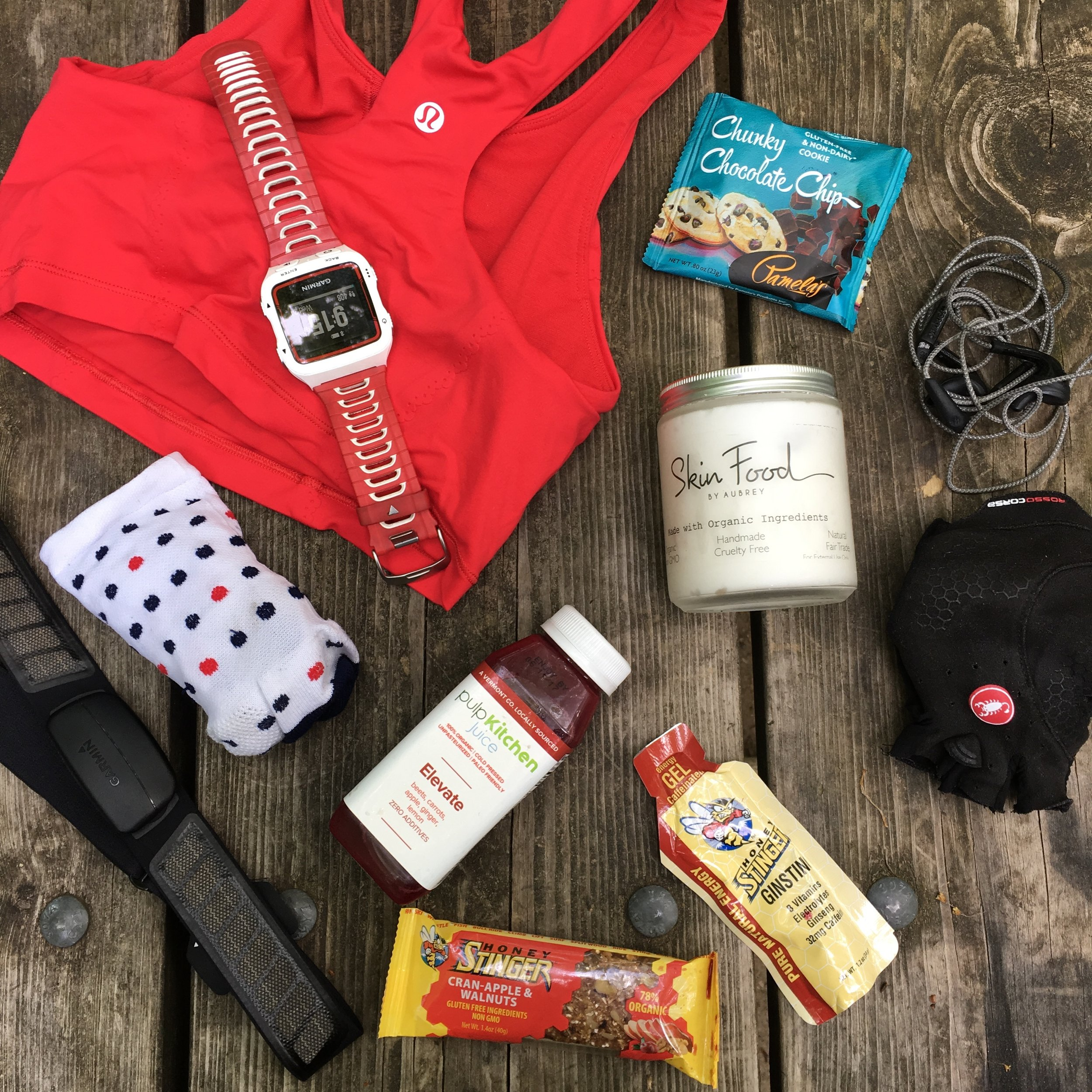 Pre ride spread. Kept my muscles fresh with SkinFood's organic muscle rub
