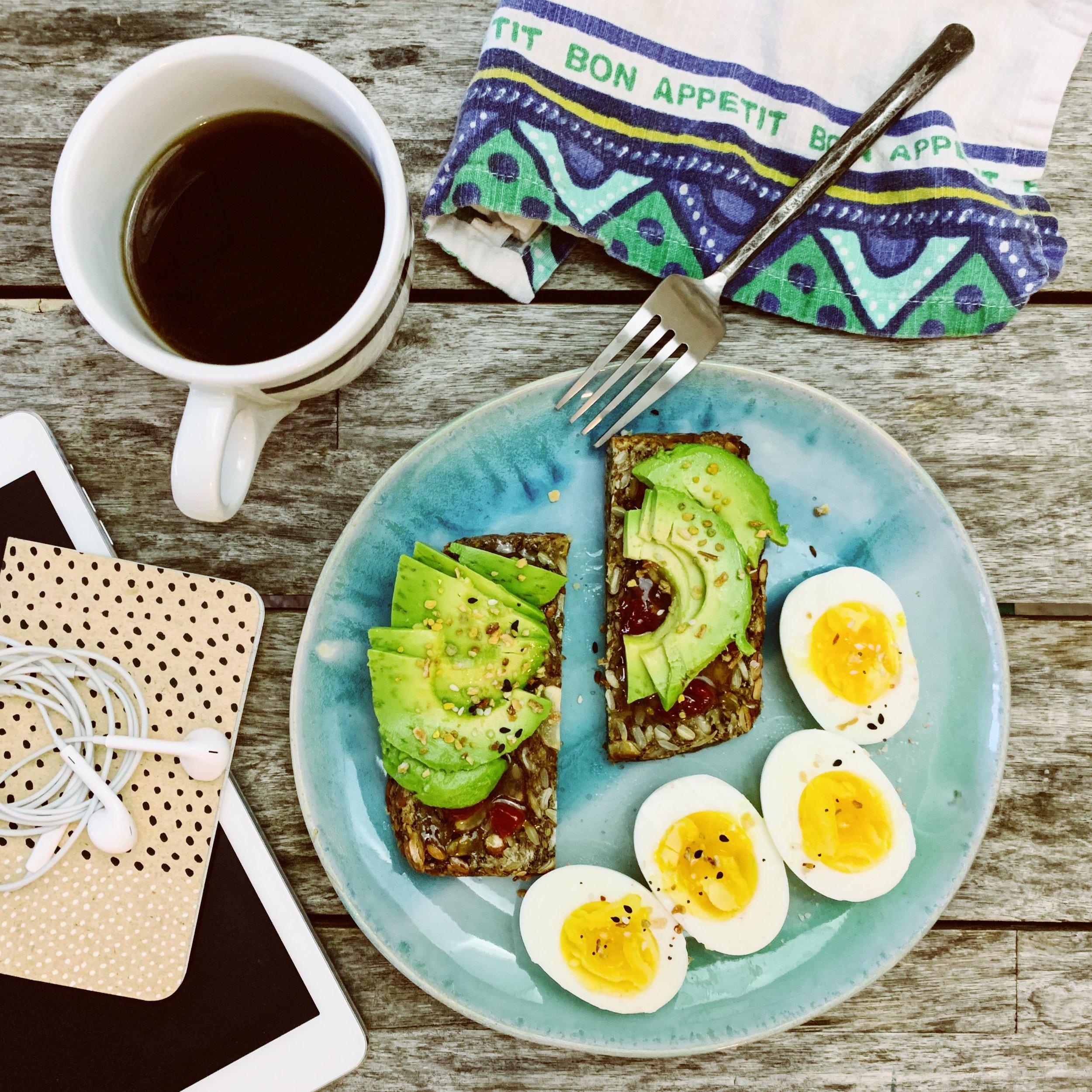 Avocado + Eggs on Seed/Oat Toast