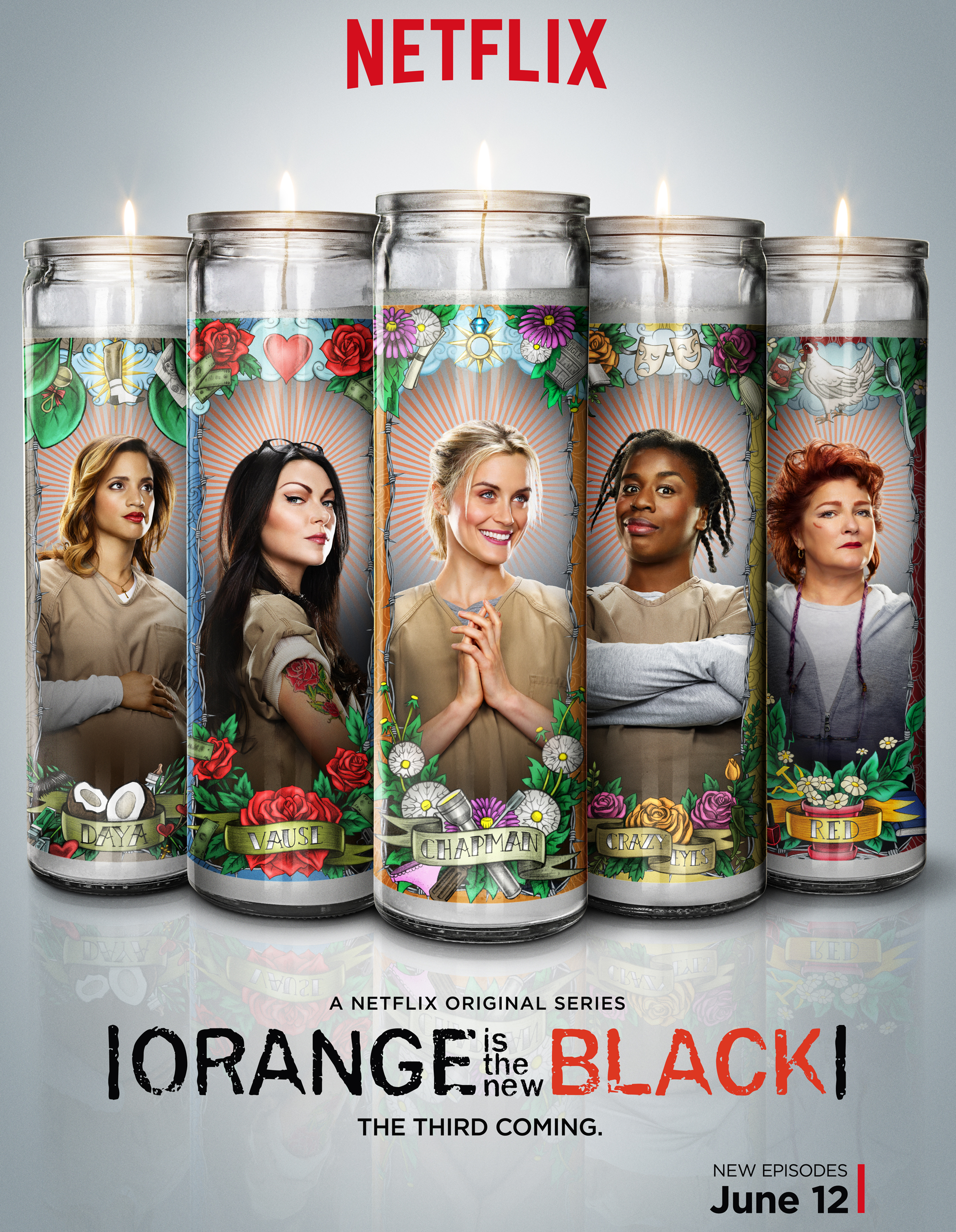 Orange is the New Black (candle poster)