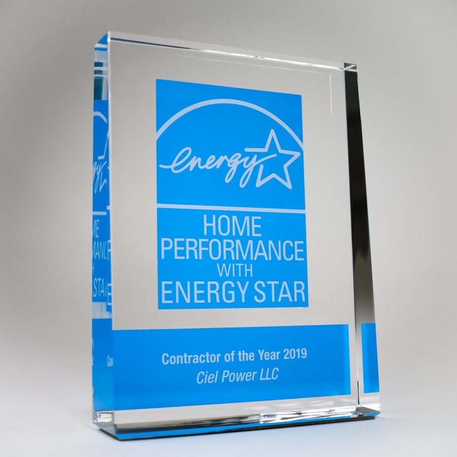 Ciel Power LLC was honored to be presented with the national 2019 Home Performance with ENERGY STAR award at a ceremony in Washington DC on April 11th, 2019.