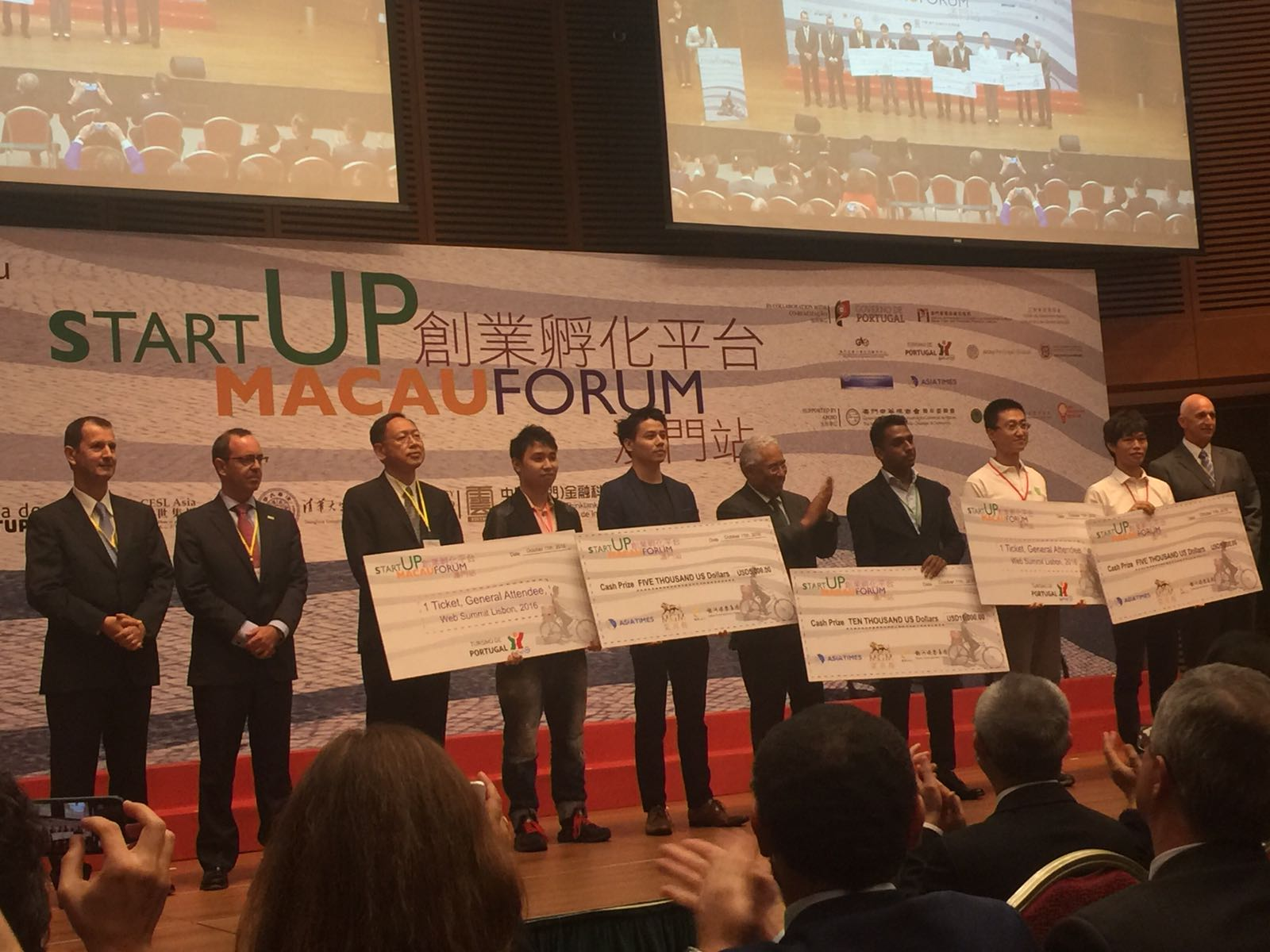 The winners of StartUP Macau Forum
