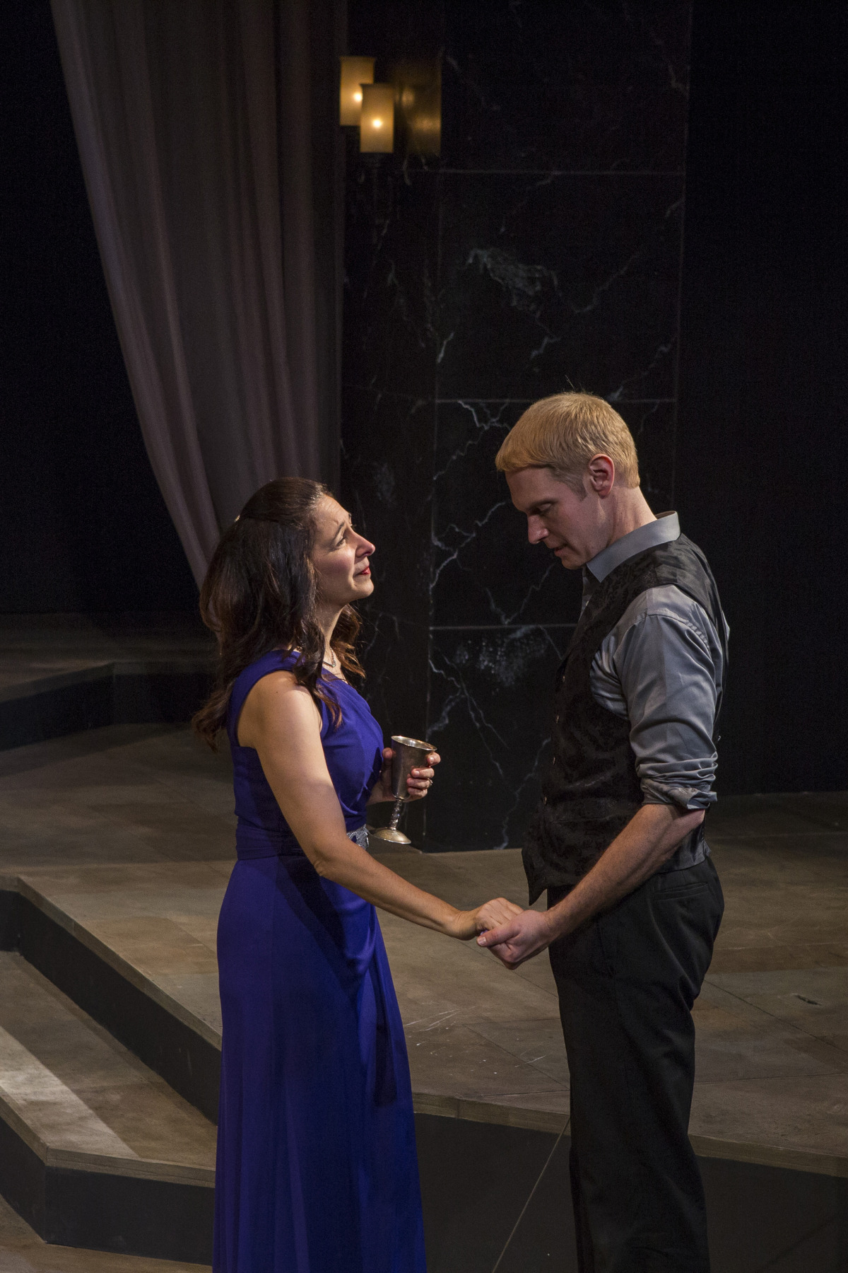 Amy Herzberg and Grant Goodman in Hamlet (2014). Photo by Beth Hall.