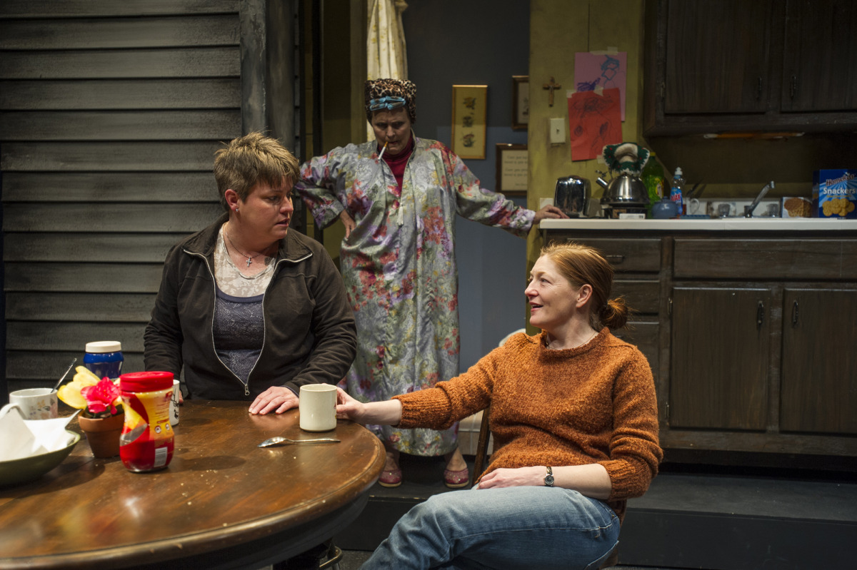 Lauren Halyard, Shirley Hughes, and Rebecca Harris in Good People (2014). Photo by Beth Hall.