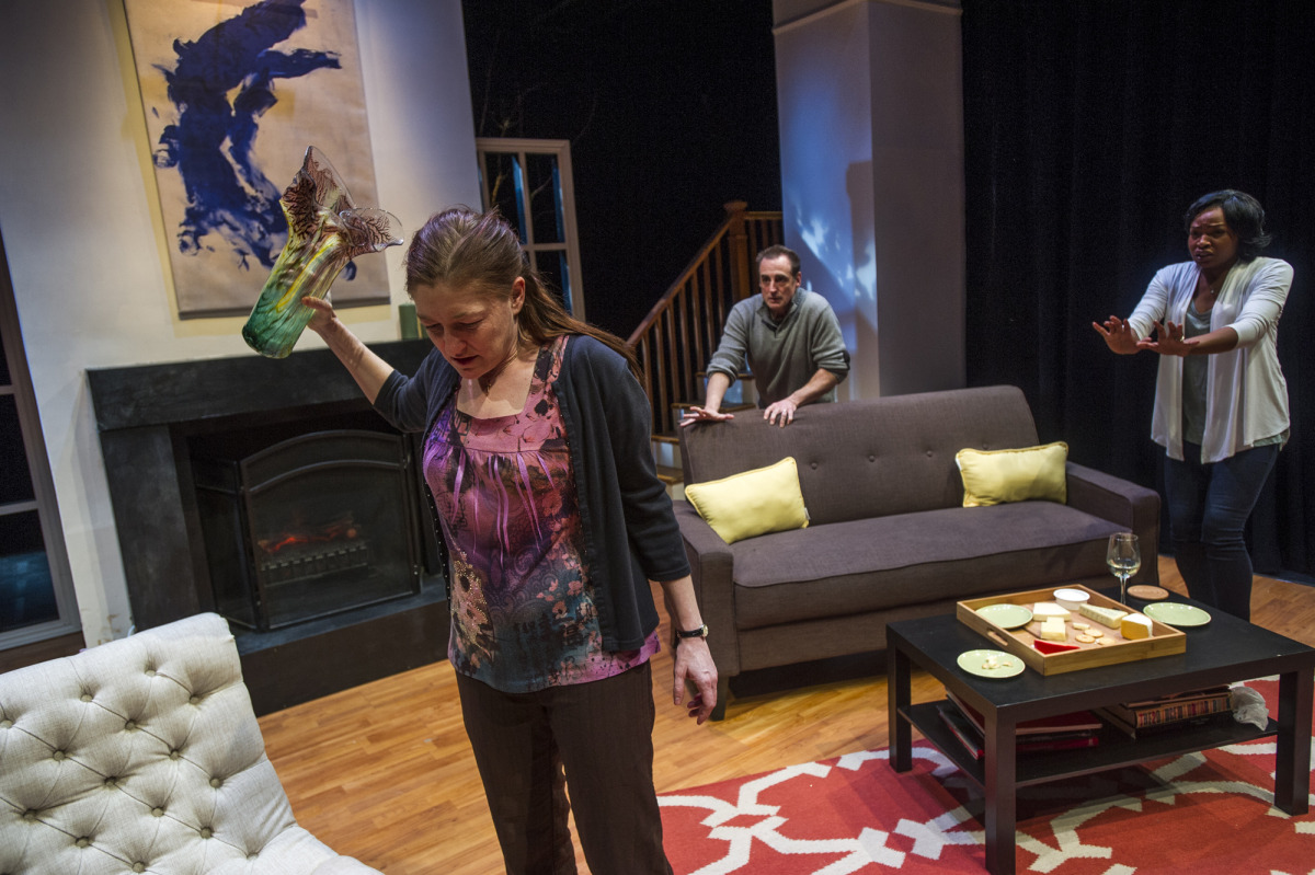 Rebecca Harris, Sean Patrick Reilly, and Margaret Odette in Good People (2014). Photo by Beth Hall.
