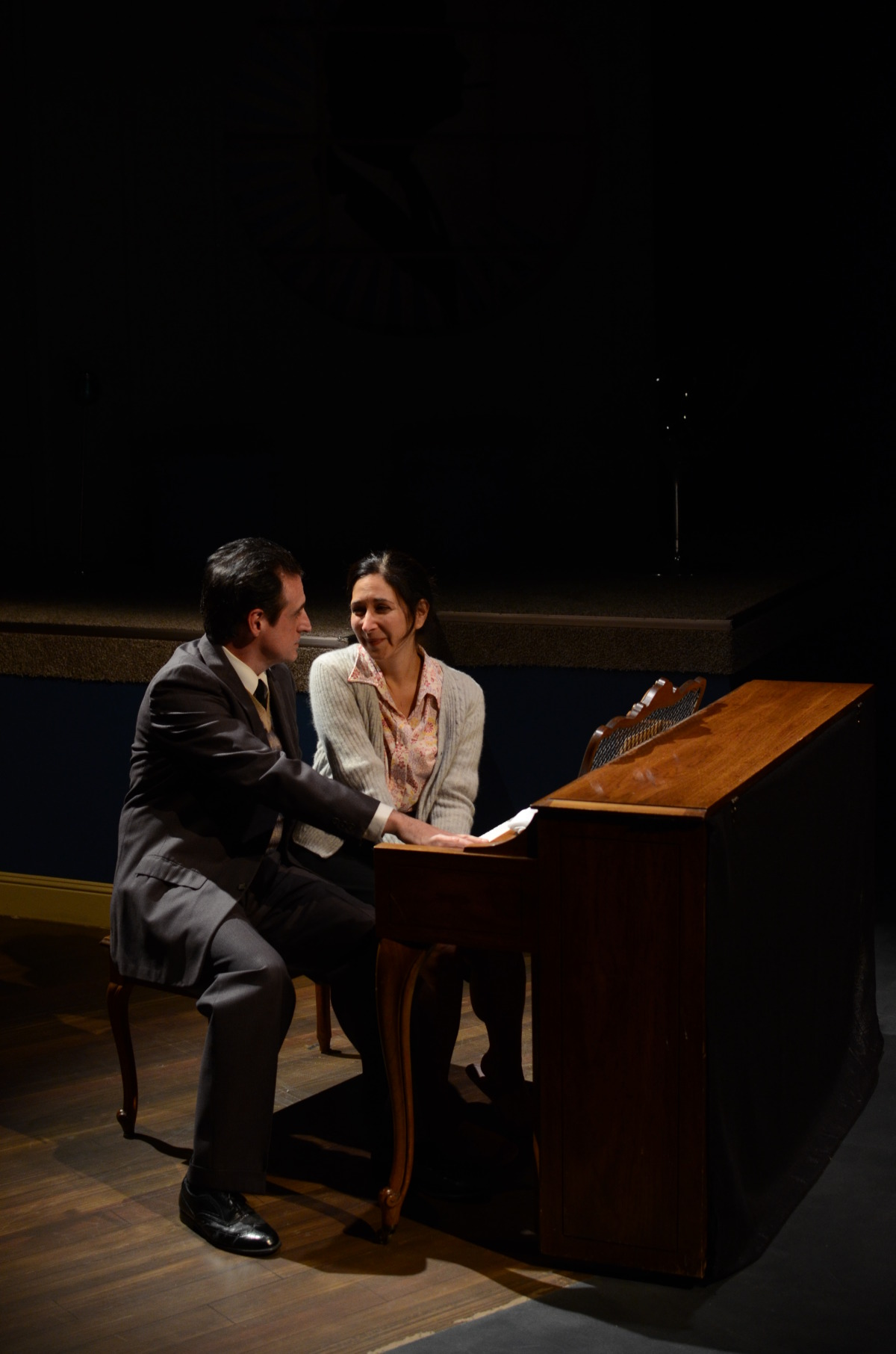 Sean Patrick Reilly and Amy Herzberg in The Spiritualist (2013). Bettencourt Chase Photography.
