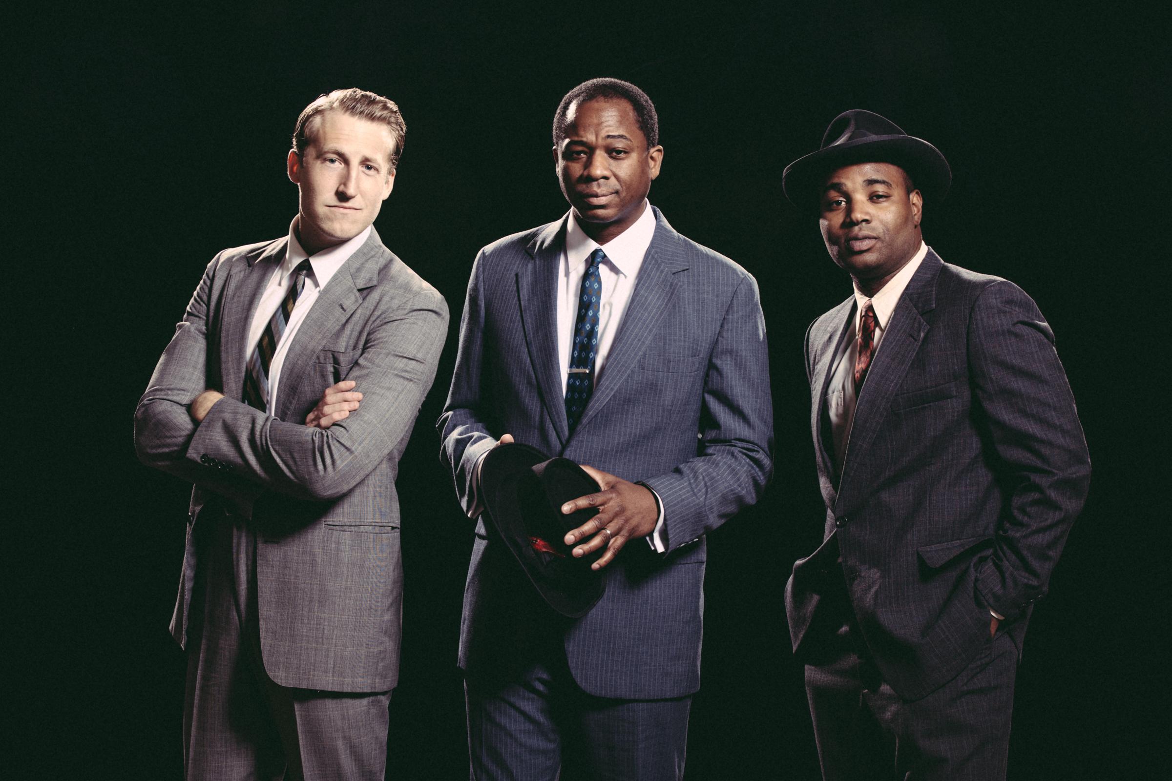 Curtis Longfellow, Cary Hite, and Austin Ashford play the 1962 members of Nina Simone's band.