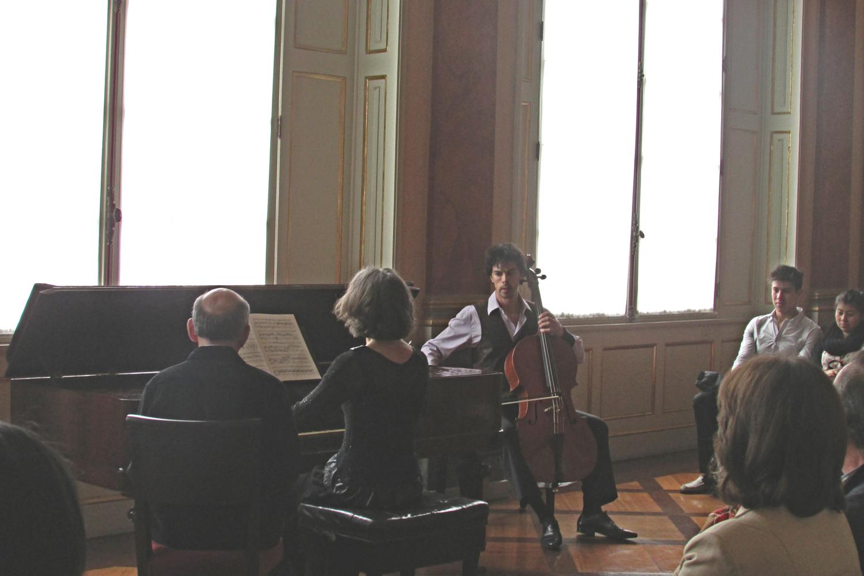 Duo Rueda/Leertouwer performs sonatas by Ludwig van Beethoven in Teatro Colón, Bogotá.