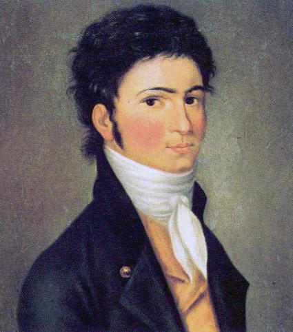 El   joven Ludwig van Beethoven.