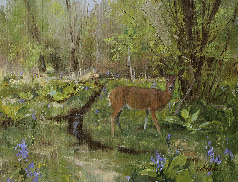 """Spring in the Marsh"" 11"" x 14"" oil   Highlands Art Gallery"