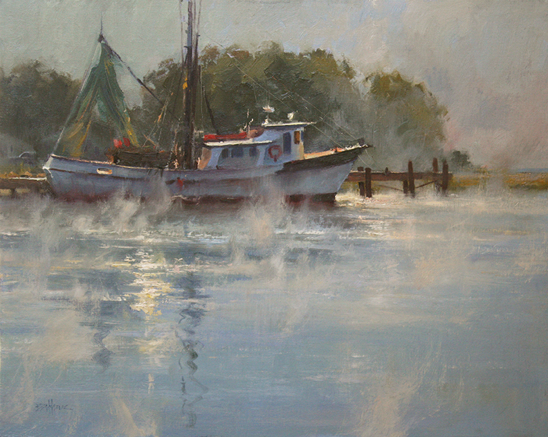"""Rising Mist"" 16"" x 20"" oil   Helena Fox Fine Art   SOLD"